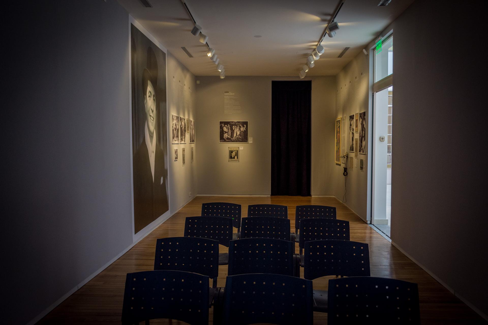 Donde estaban originalmente las habitaciones de la casa, actualmente funciona una sala de cine para 40 personas. (Martín Rosenzveig)