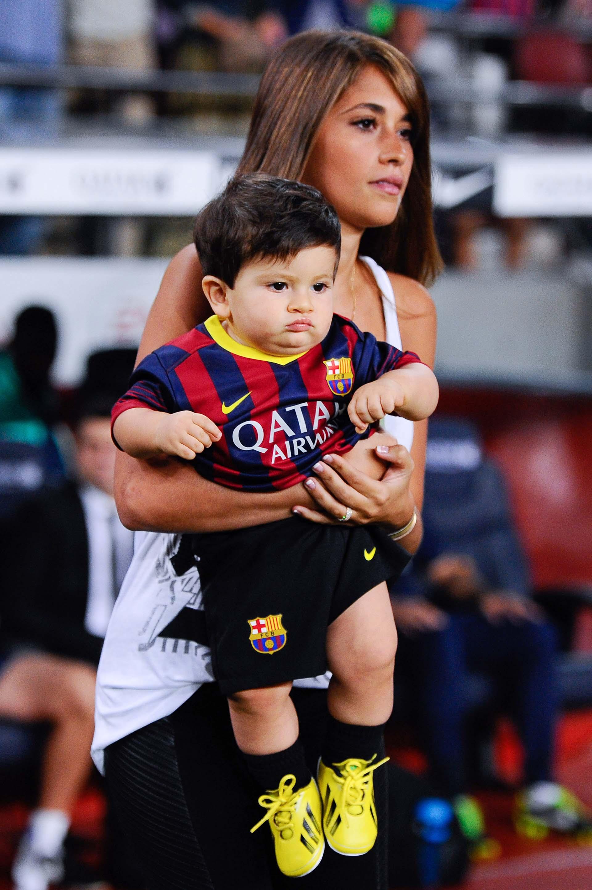Septiembre de 2013, una de las primeras veces de Thiago enel Camp Nou