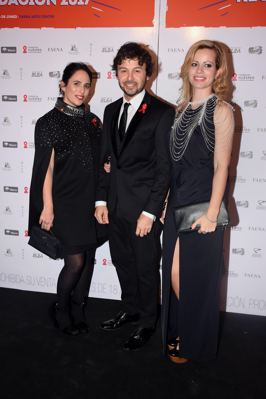 Wally Diamante junto a Lucila Sperber y Nuria Quintela