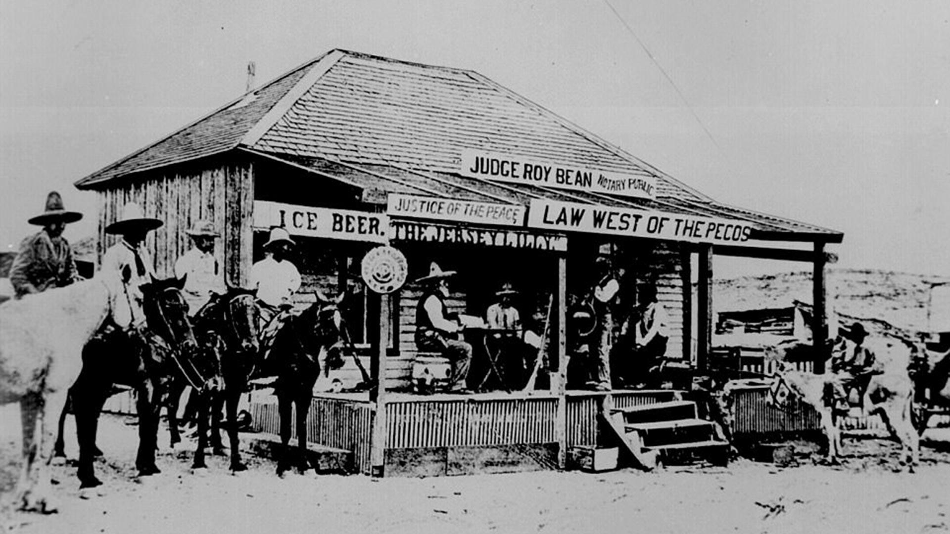 Langtry, en la frontera Texas-México, fines del siglo XIX