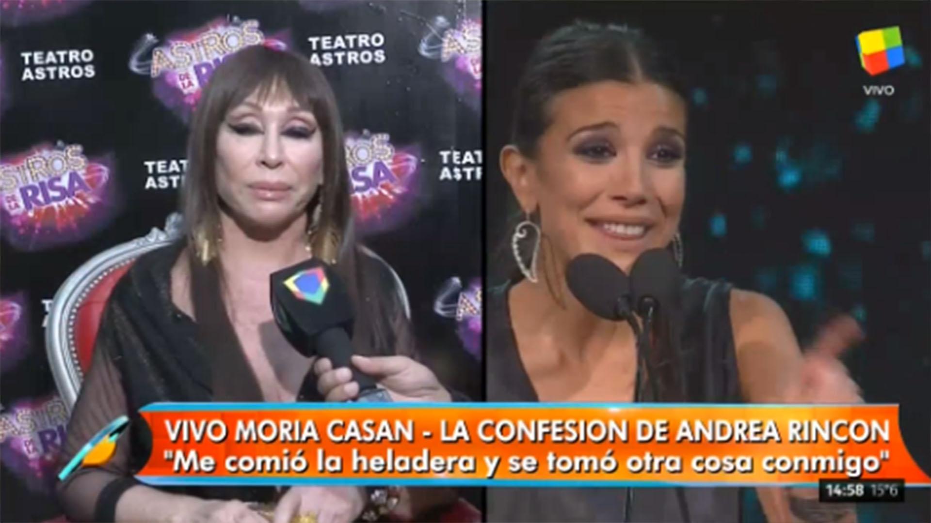 """Andrea Duro Descuido moria casán, sin filtro: """"andrea rincón se portó fatal"""