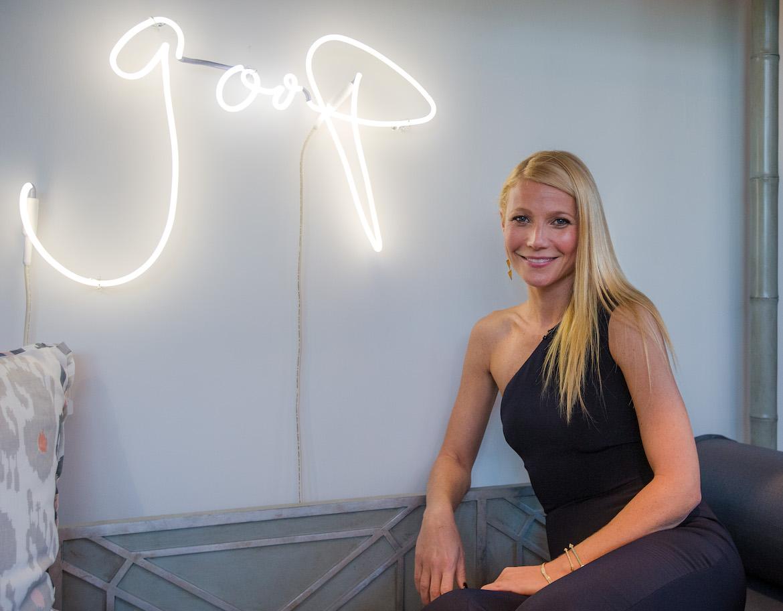 Gwyneth Paltrow celebra el lanzamiento de Goop Pop en Dallas, Texas. Photo de Layne Murdoch Jr./Getty Images)