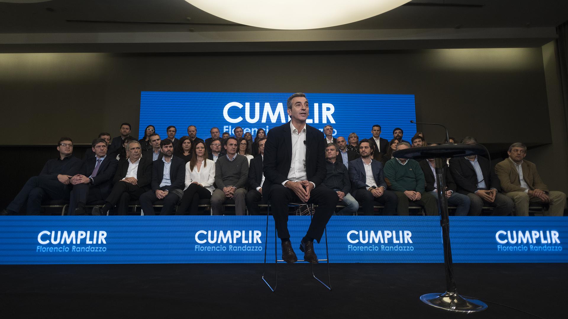 Florencio Randazzo lanzó su precandidatura a senador nacional (Adrián Escandar)