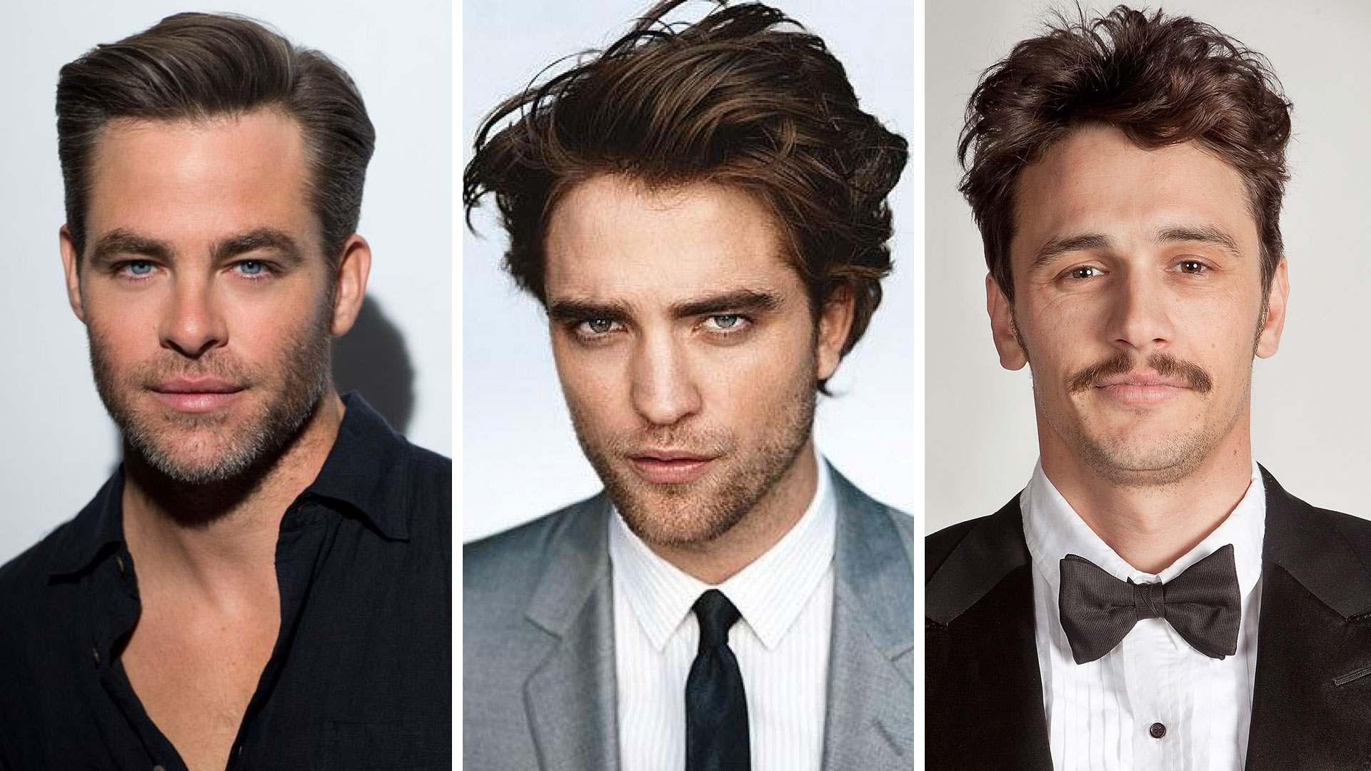 Chris Pine, Robert Pattinson y James Franco