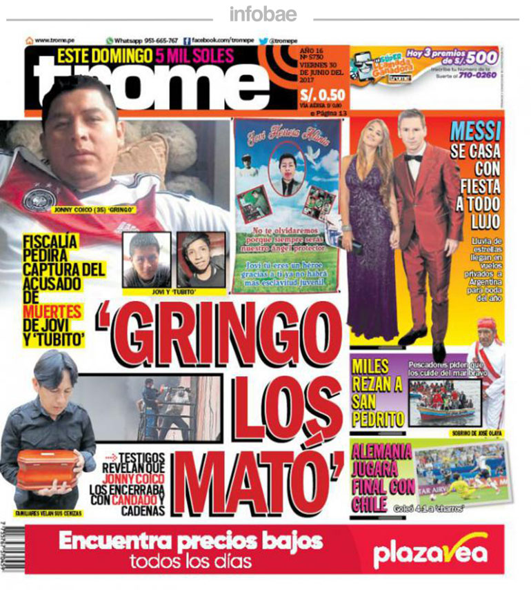 Trome Perú Jueves 30 De Junio De 2017 Noticias De Catamarca