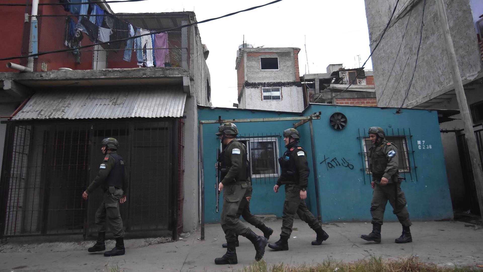 Efectivos de Gendarmería en la 1-11-14. (DyN)