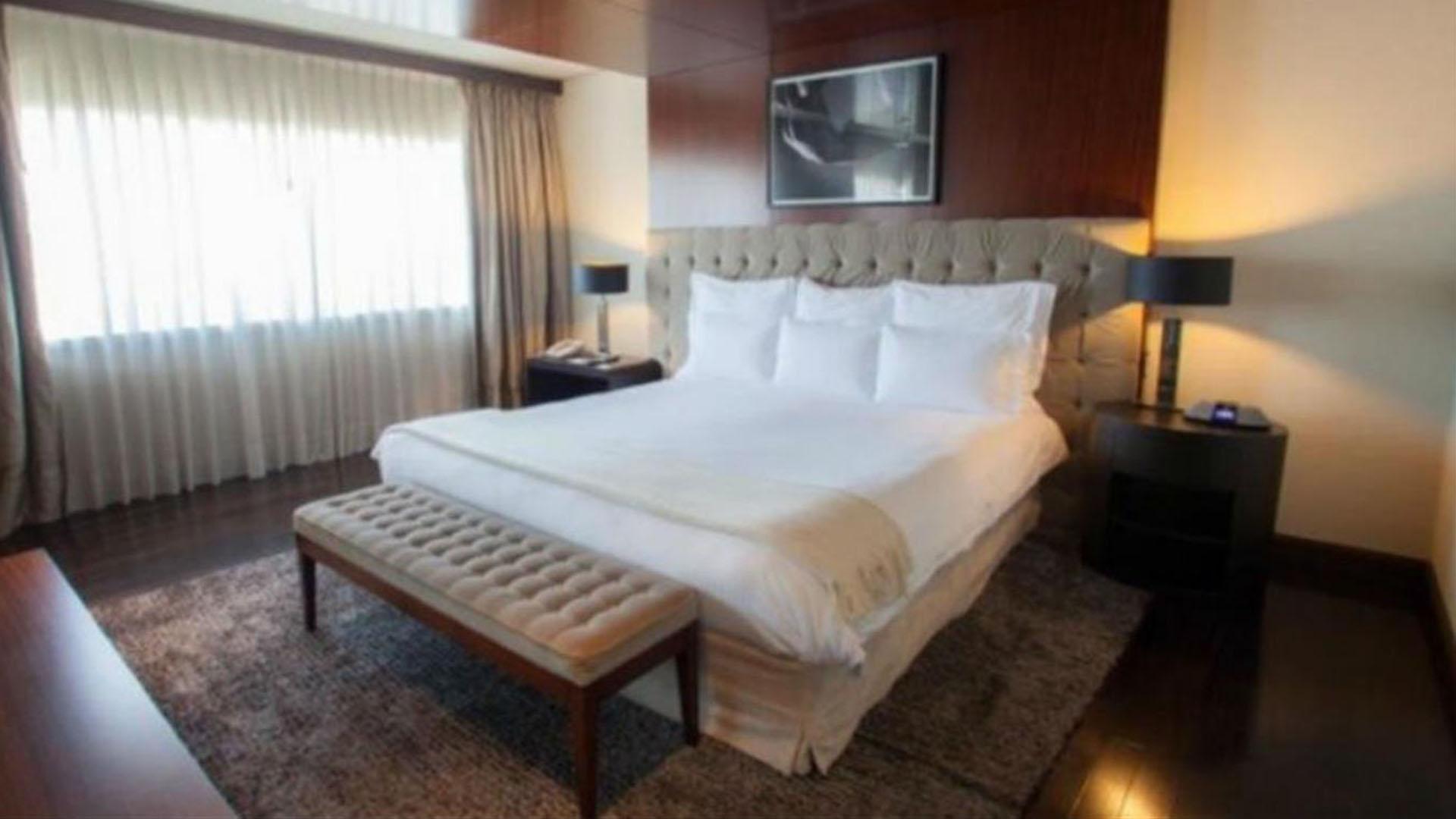 La pareja ocupó la suite presidencial del Hotel City Center de Rosario