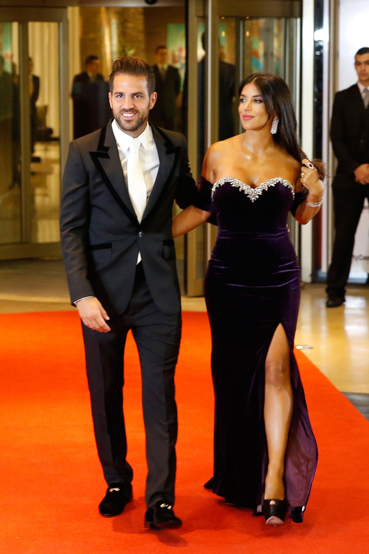 El catalán y su mujer salieron a saludar antes de la ceremonia civil