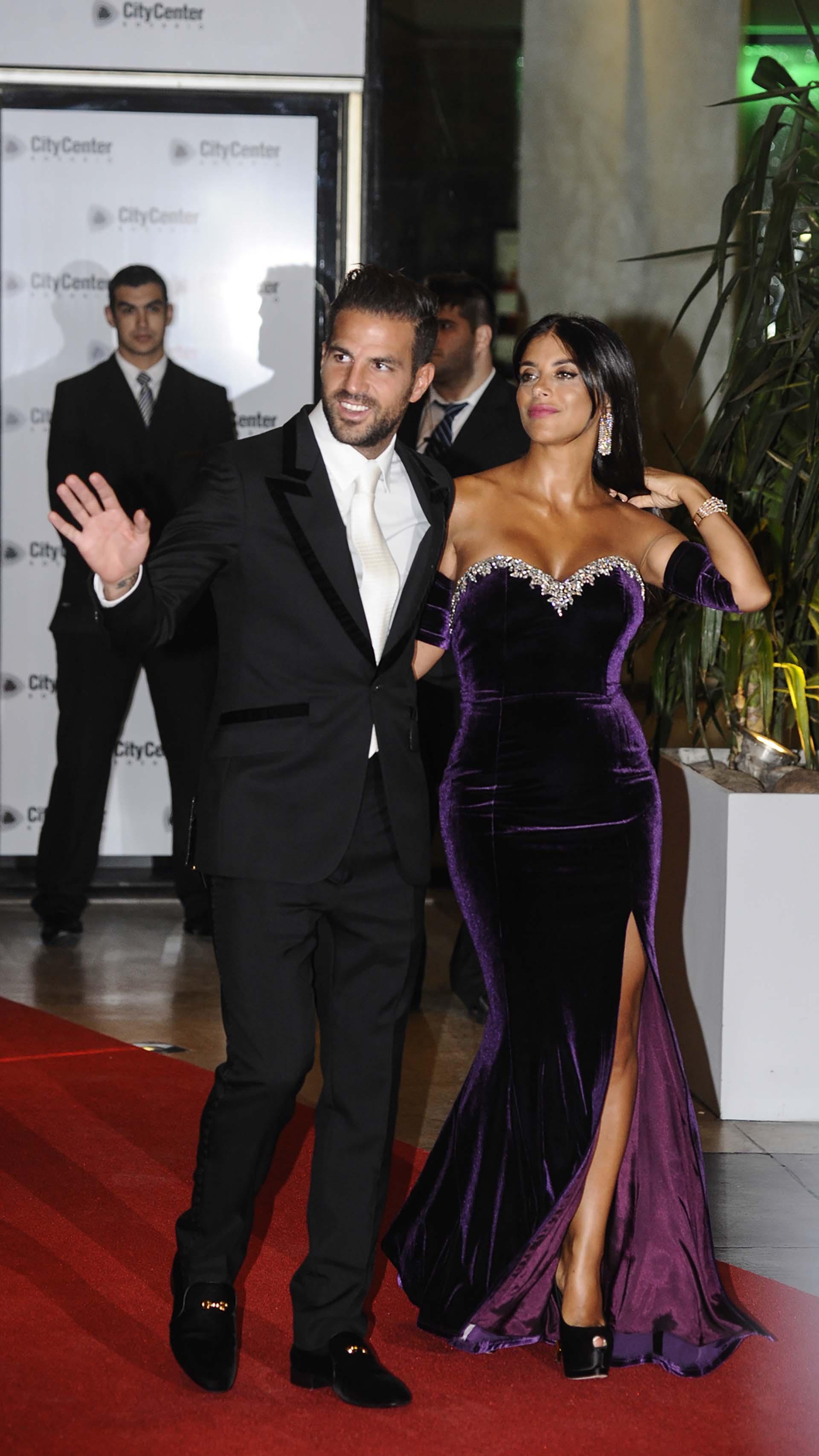 Cesc Fabregas y Daniella Semaan, pareja muy amiga de Antonela y Lionel Messi