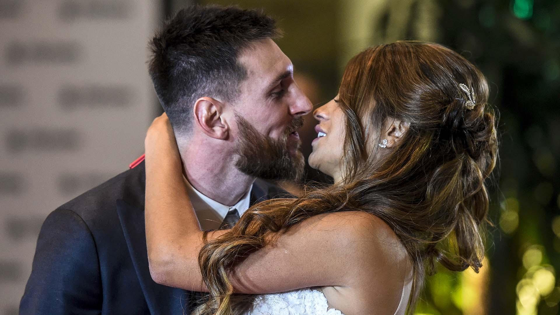 Lionel Messi y Antonela Roccuzzo ya son marido y mujer