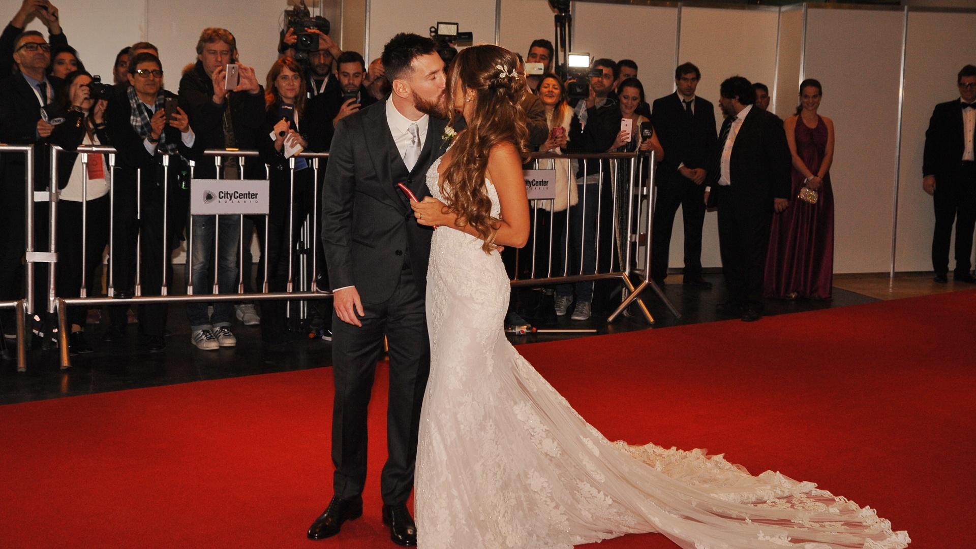 Lionel Messi optó por un smoking de Armani (Patricio Murphy)