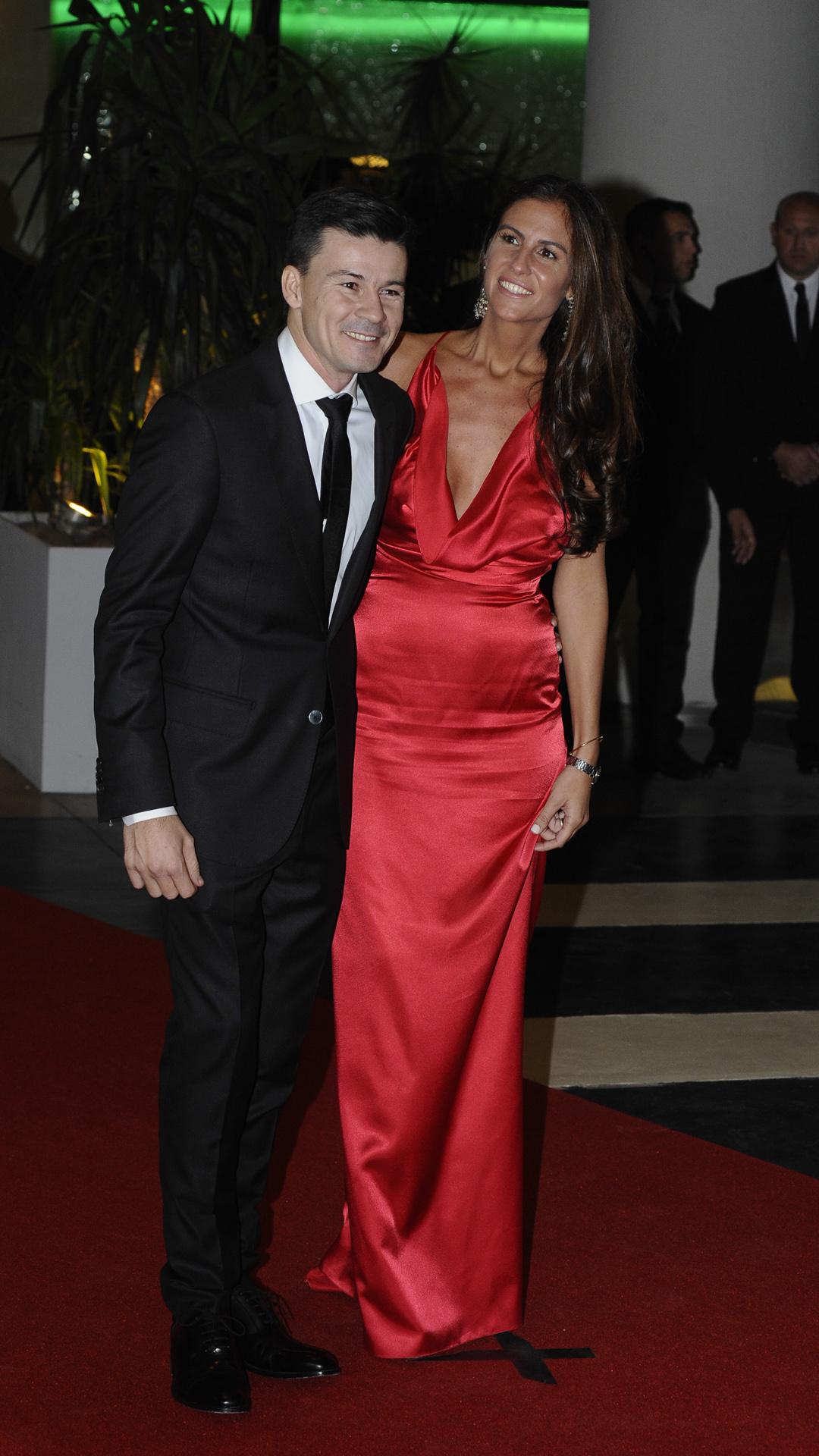 El ex tenista argentino Guillermo Coria y su mujer, Carla Francovigh