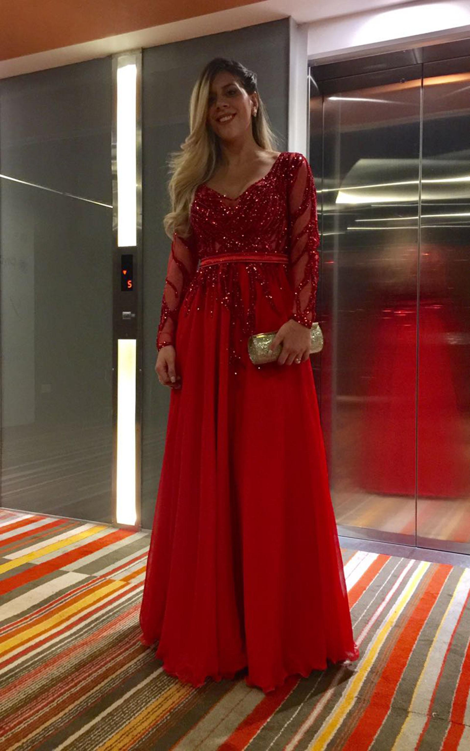 María Sol Messi lució un vestido de alta costura del modisto argentino Claudio Cosano