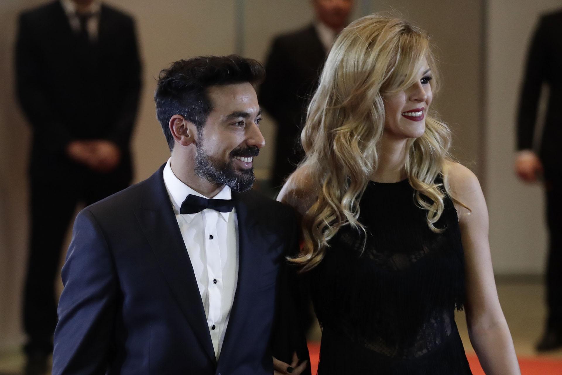 EzequielPocho Lavezzi y Yanina Screpante viajaron especialmente para la boda. Los jugadores se hicieron íntimos amigos en la Selección