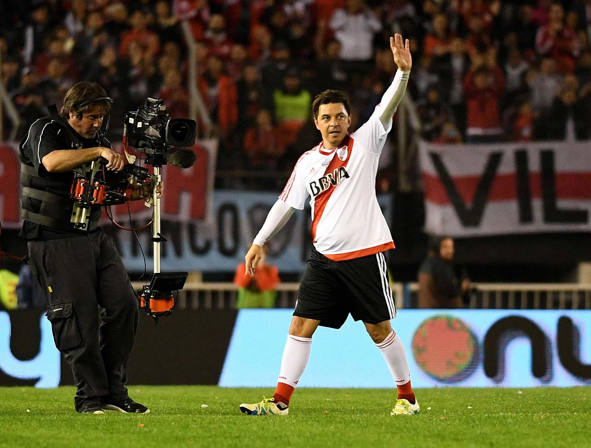 Marcelo Gallardo fue uno de los más ovacionados en Núñez