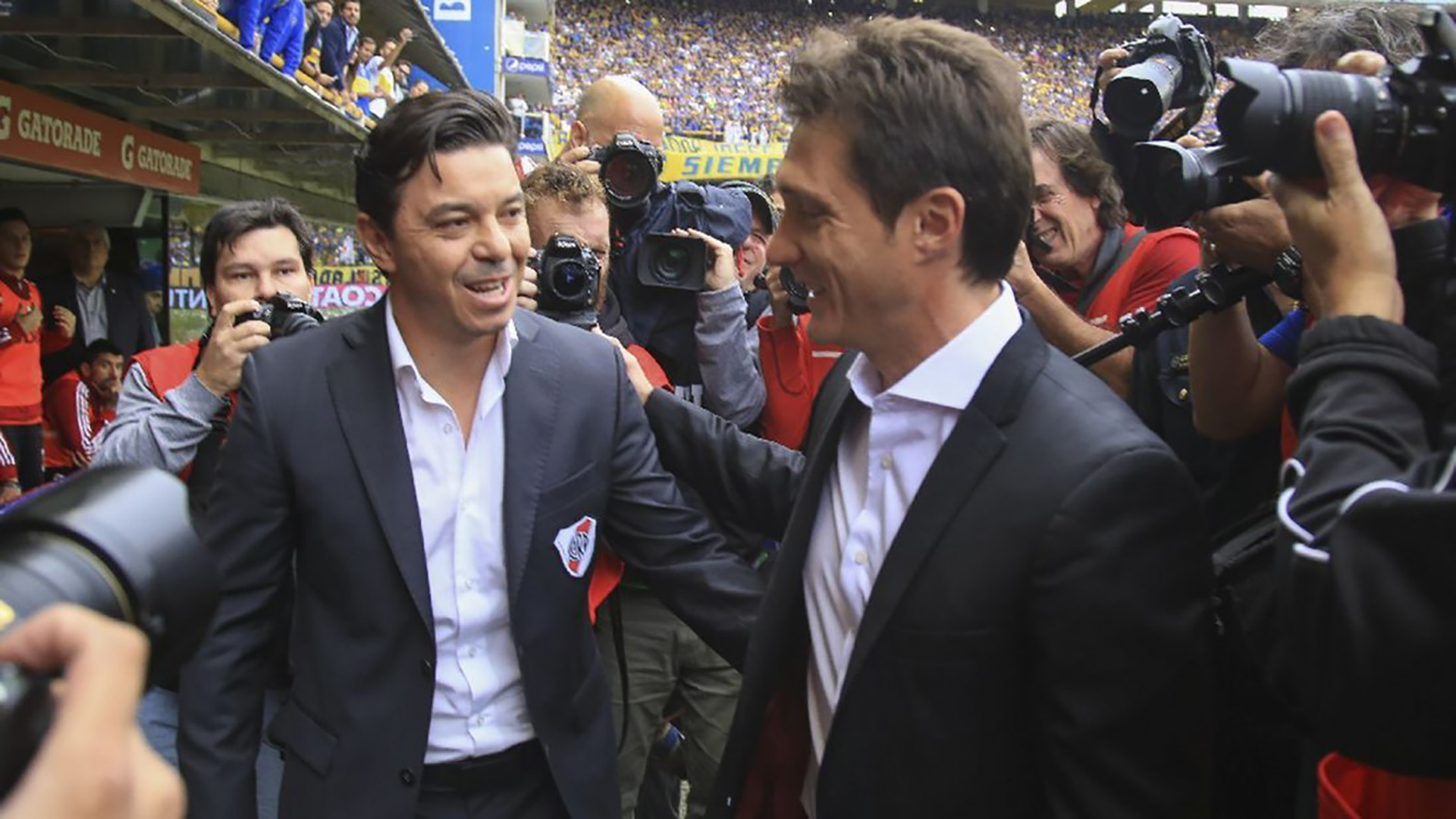 Marcelo Gallardo y Guillermo Barros Schelotto piensan en Sebastián Blanco para reforzar la mitad de la cancha (NA)