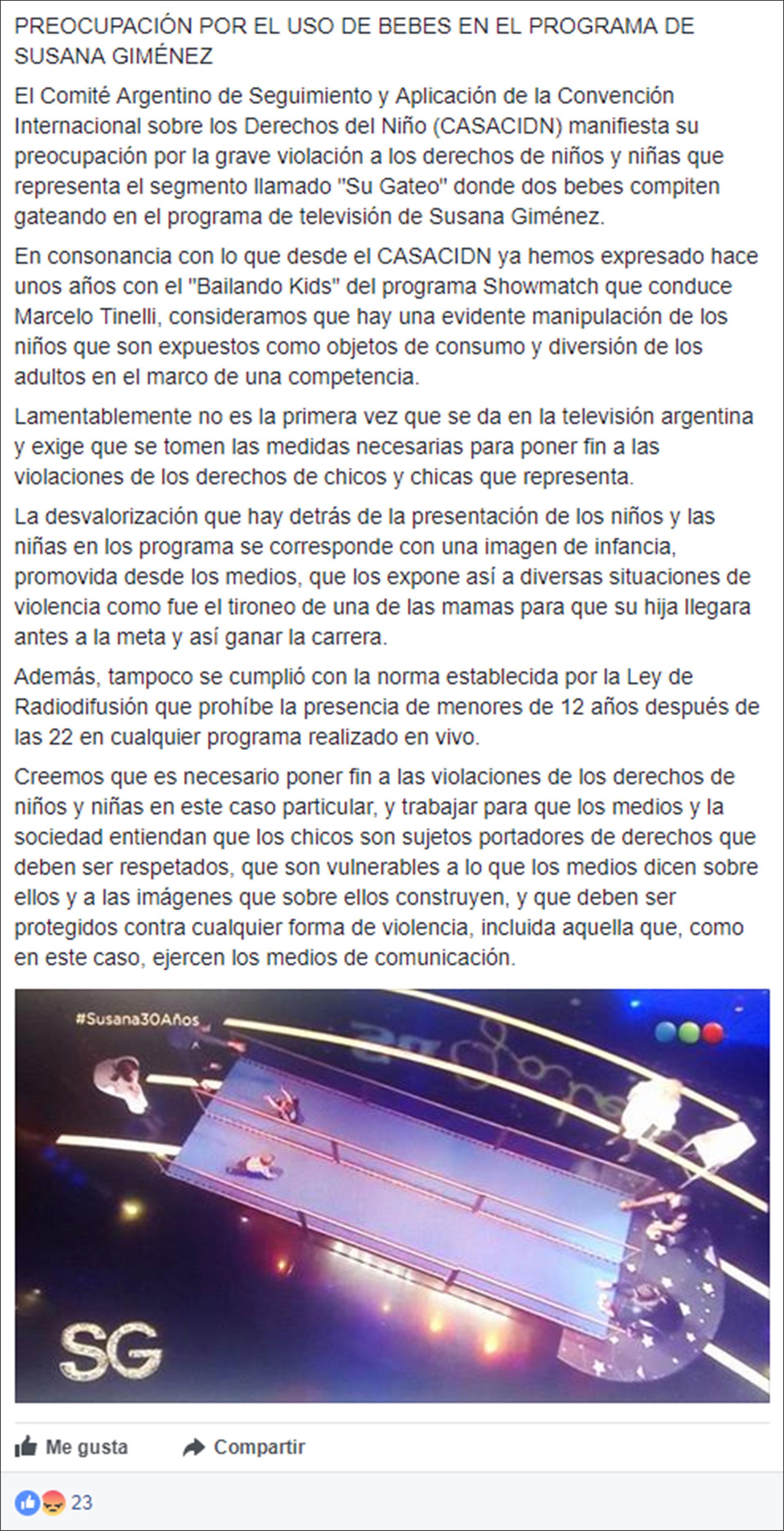 """Acusan a Susana Giménez de """"manipular niños"""" en la competencia de ..."""