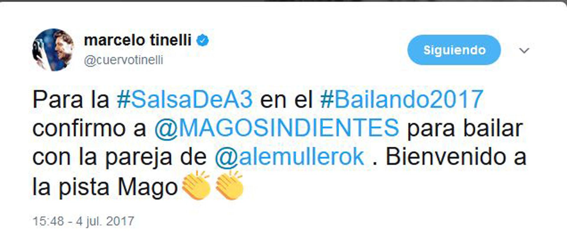 """Marcelo Tinelli le dio la bienvenida al Mago sin dientes al """"Bailando"""""""