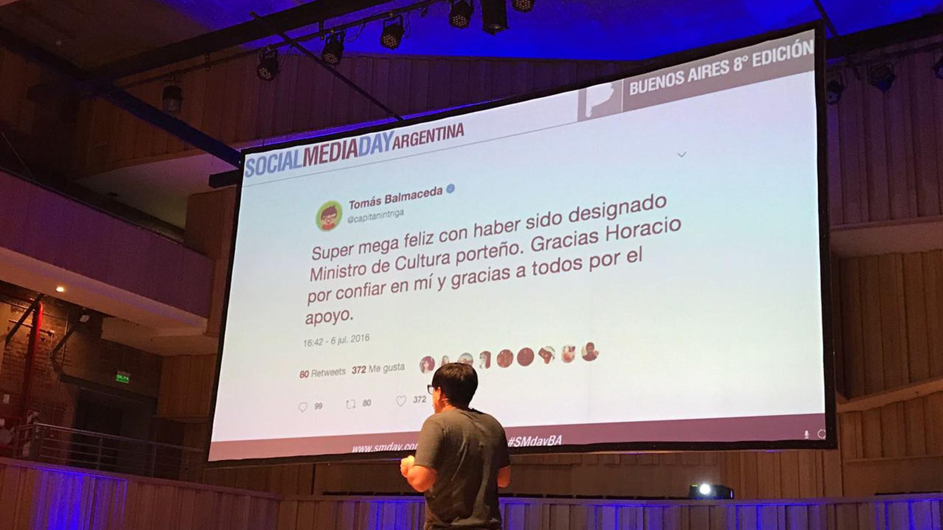 La broma que difundió el periodista Tomás Balmaceda en su Twitter