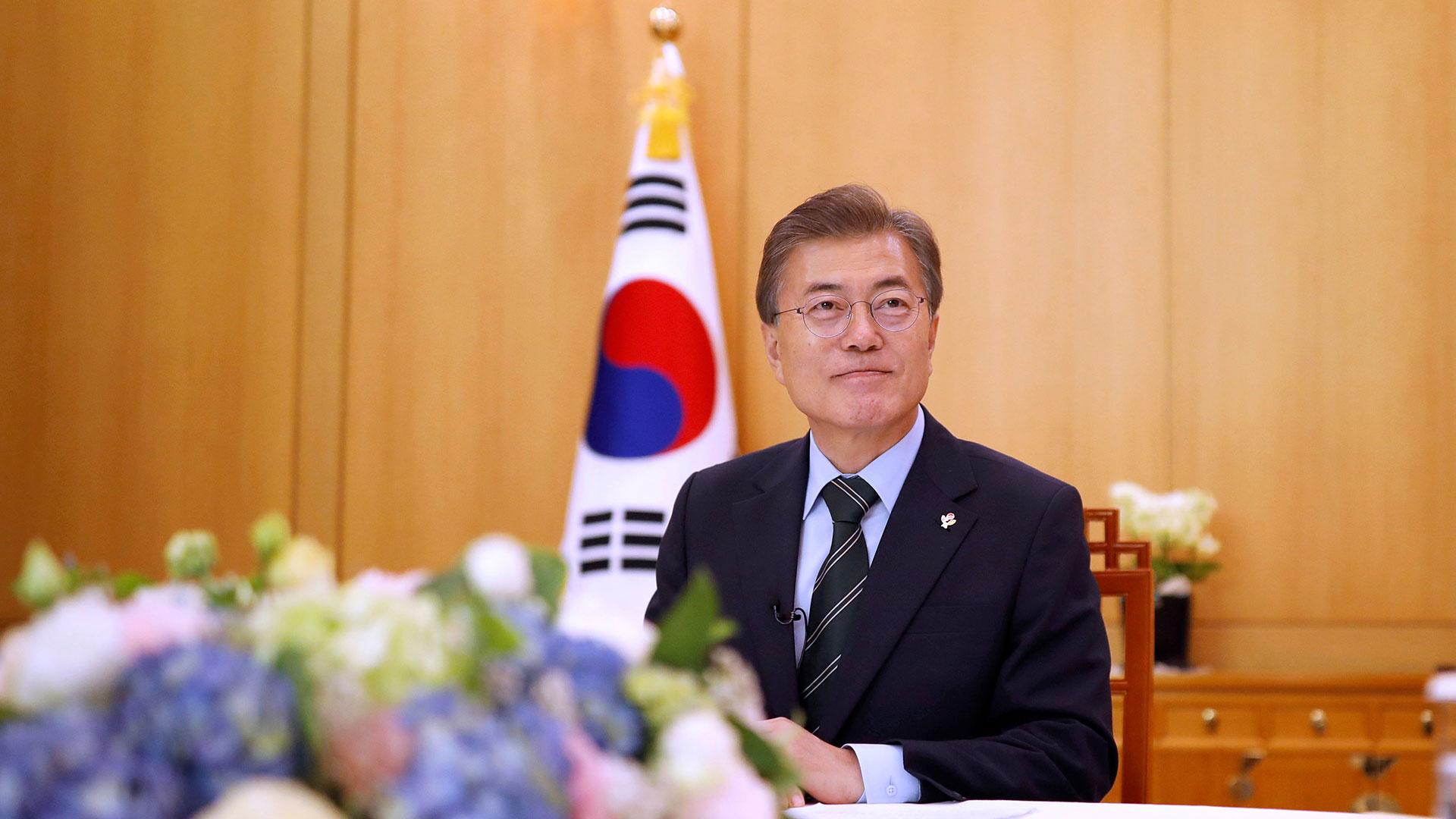 Moon Jae-In, presidente de Corea del Sur. (Reuters)