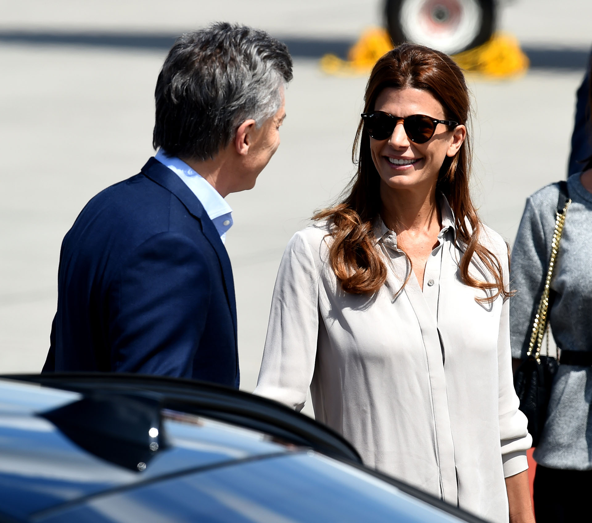 Mauricio Macri y su esposa llegaron a Alemania para participar de la cumbre del G20