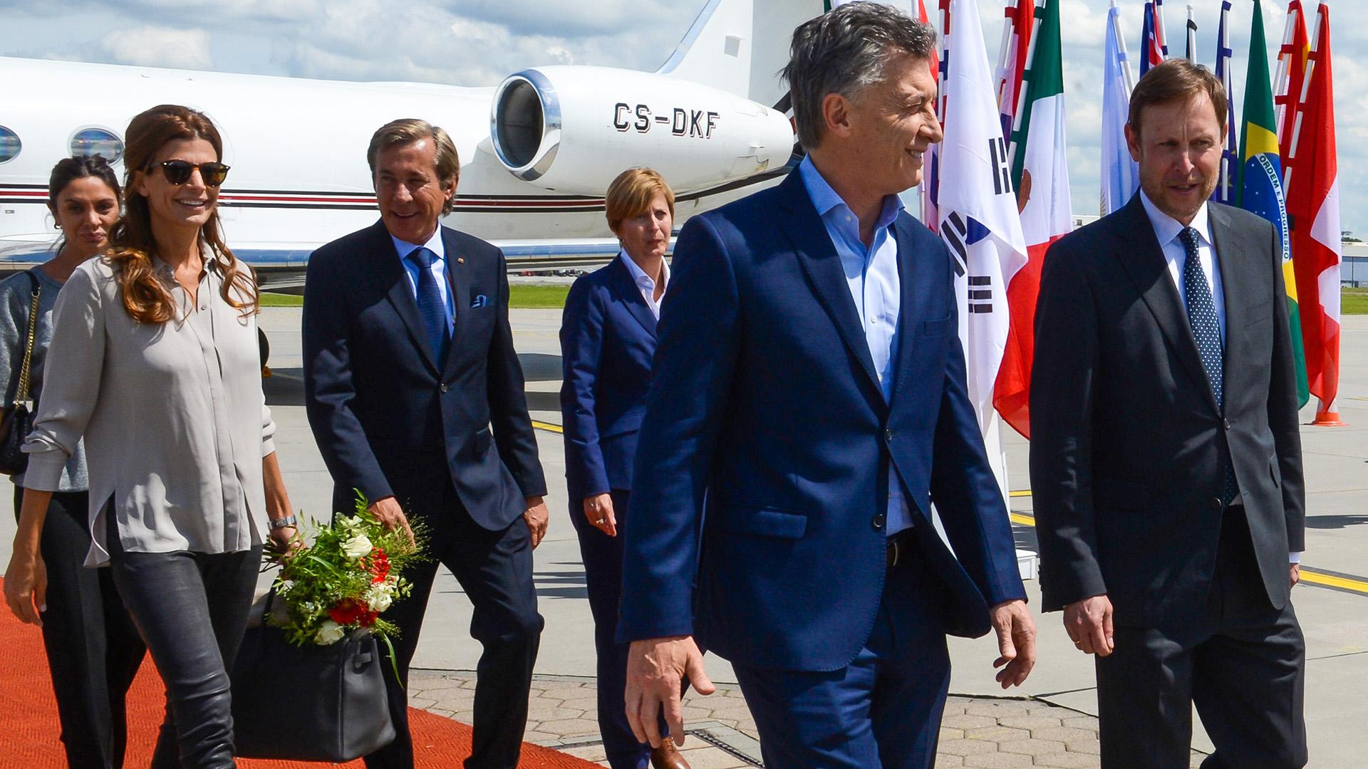 La comitiva argentina que encabeza el presidente Mauricio Macri
