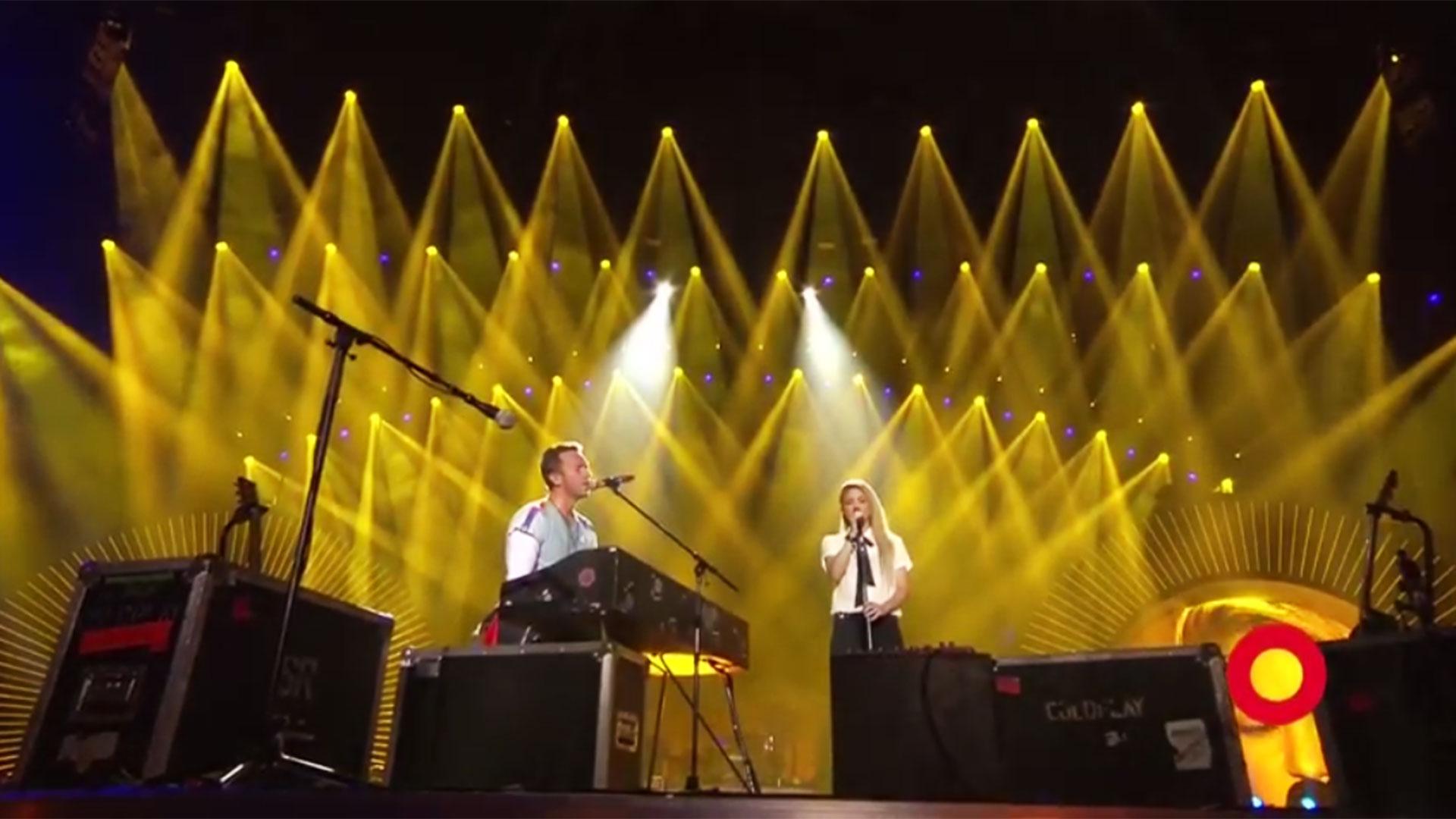 Shakira y el cantante de Coldplay realizaron un festival en la previa del encuentro de mandatarios