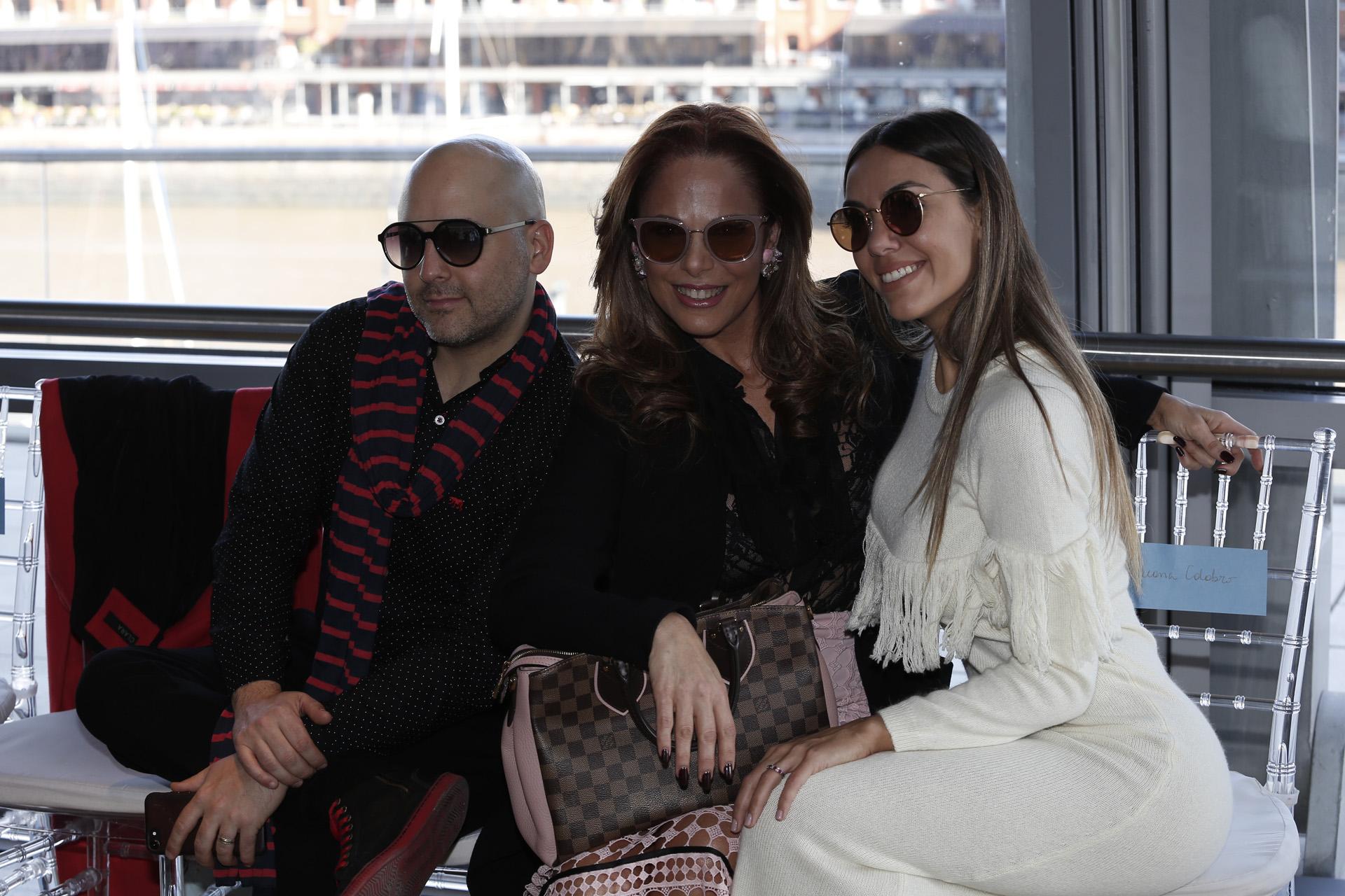 José María Muscari, Iliana Calabró y Florencia Tesouro