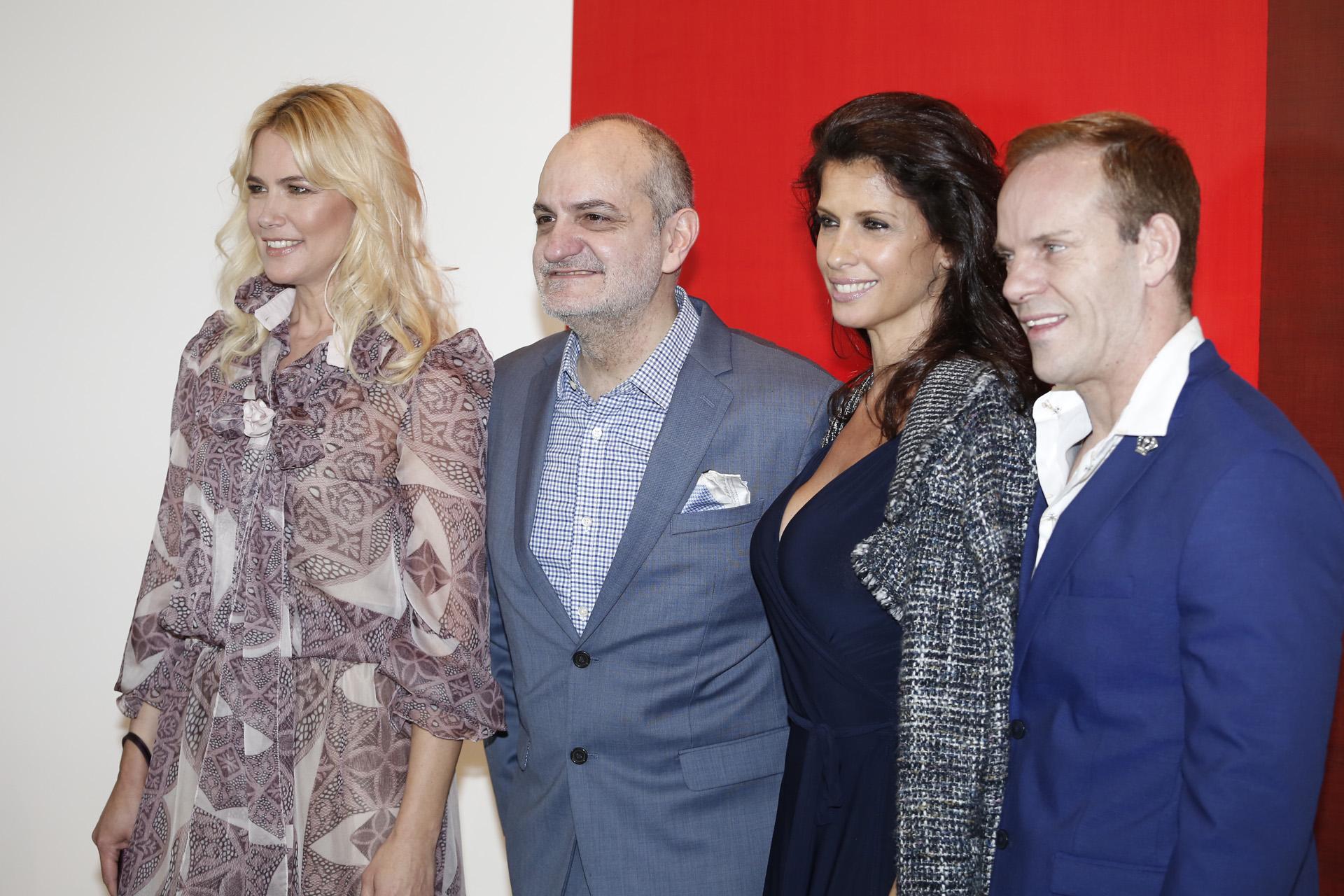 Laurencio Adot y Thiago Pinheiro junto a Valeria Mazza y Analía Maiorana