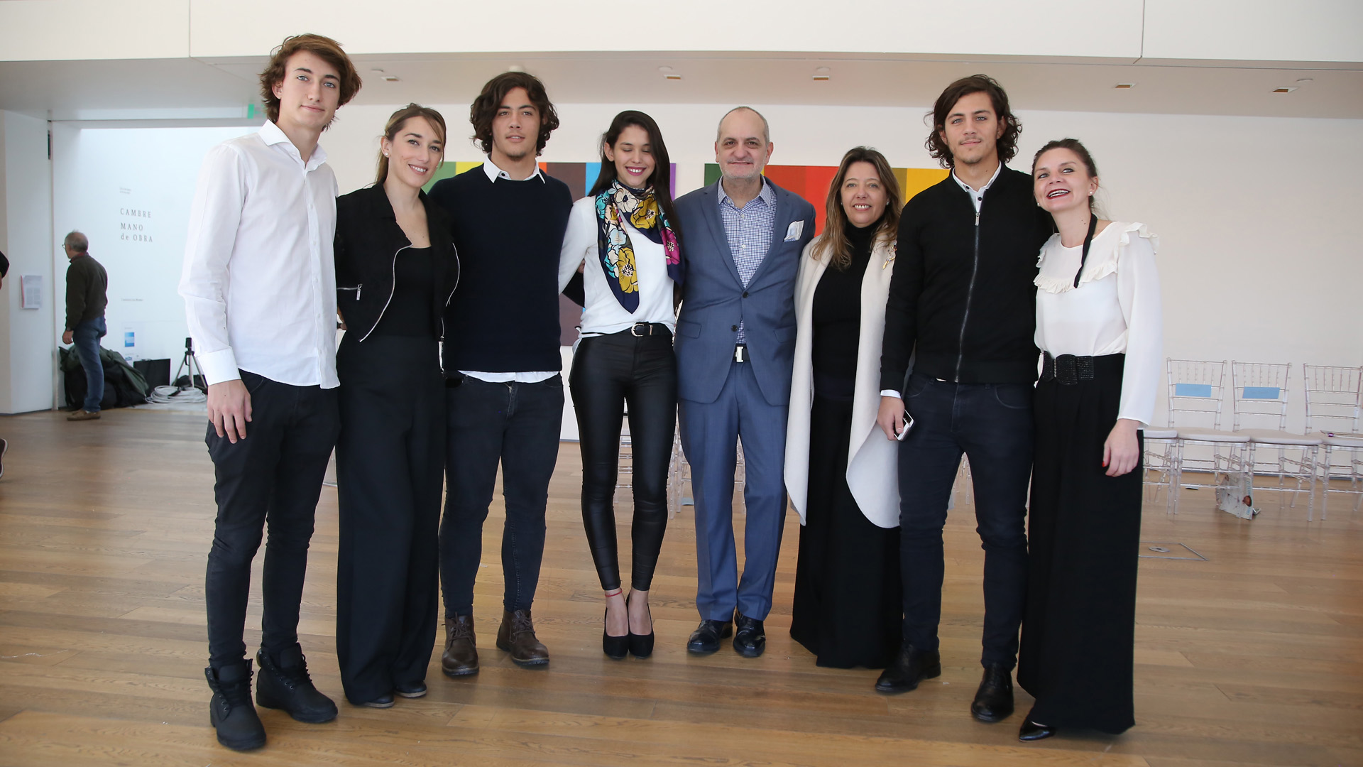 Pedro Colombo, Sabrina Prietro, Marcos Juni, Milagros Graña, Laurencio Adot, María Claudia Pedrayes, Carlos Juni y Erica Carrizo