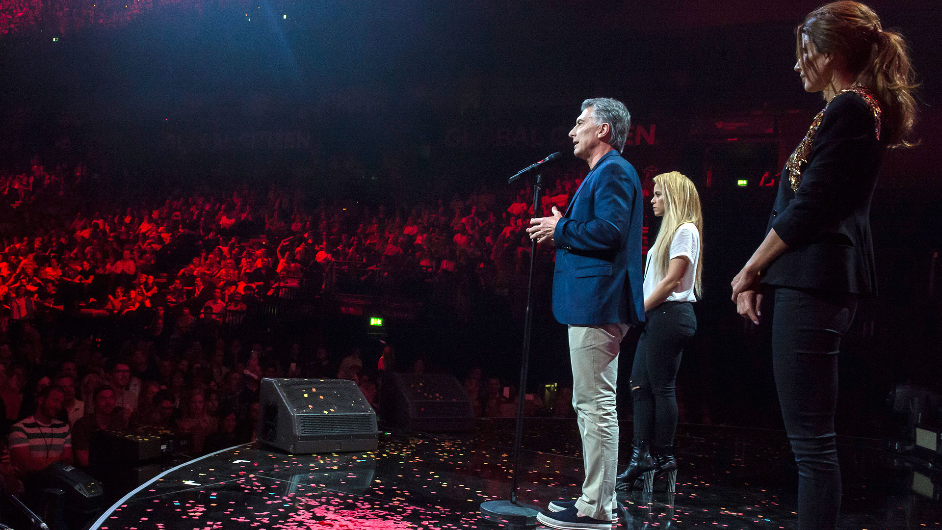 Macri y Awada junto a Shakira
