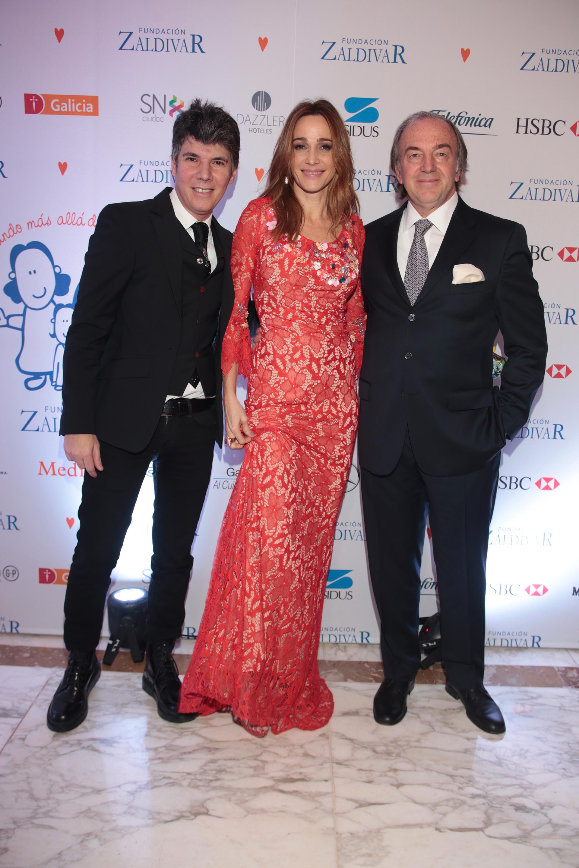 Maxi Trusso, Verónica Lozano y Roberto Zaldivar