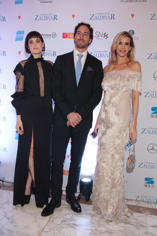 Florencia Torrente, Roger Zaldivar y Guillermina Valdes
