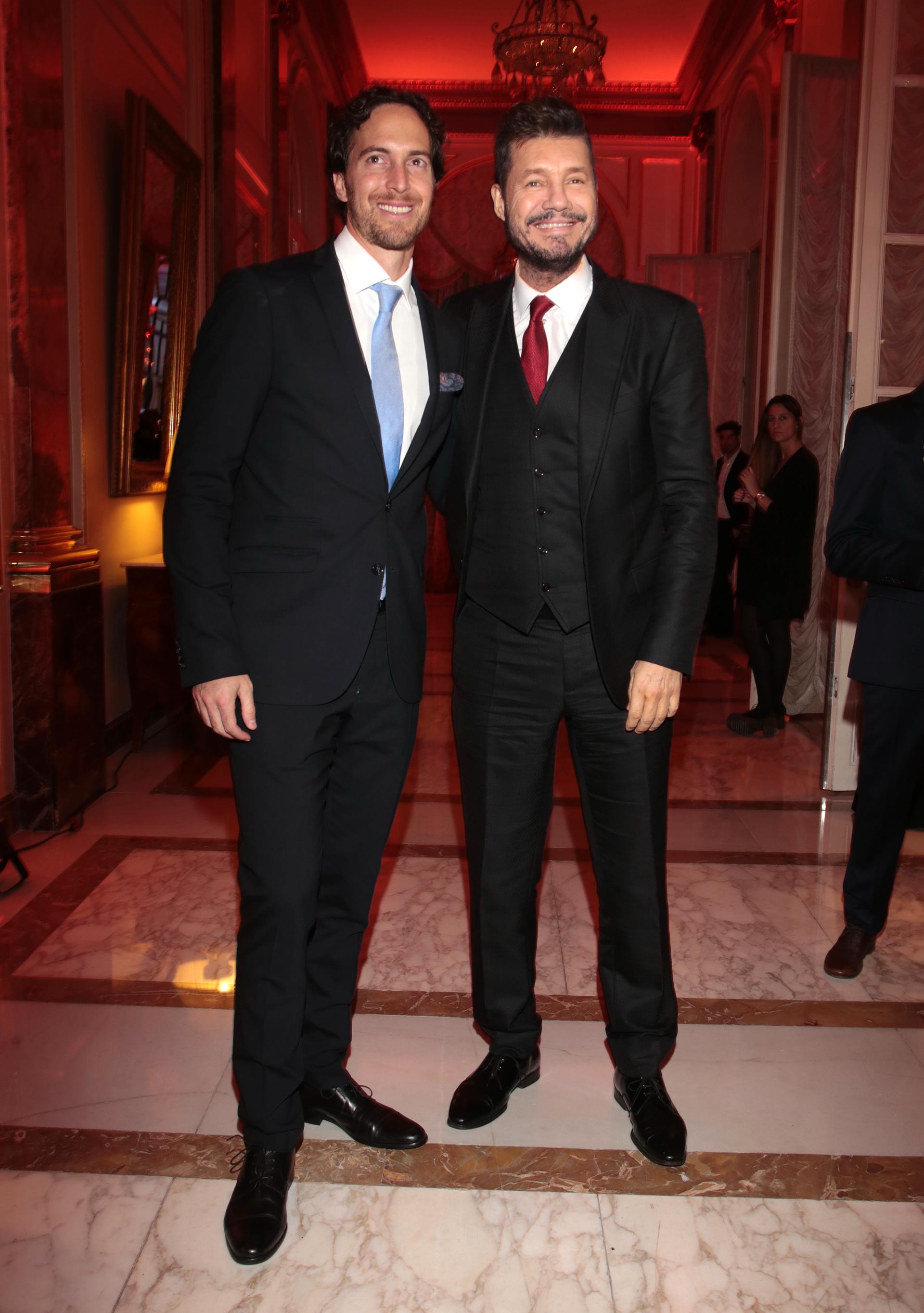 Roger Zaldivar y Marcelo Tinelli