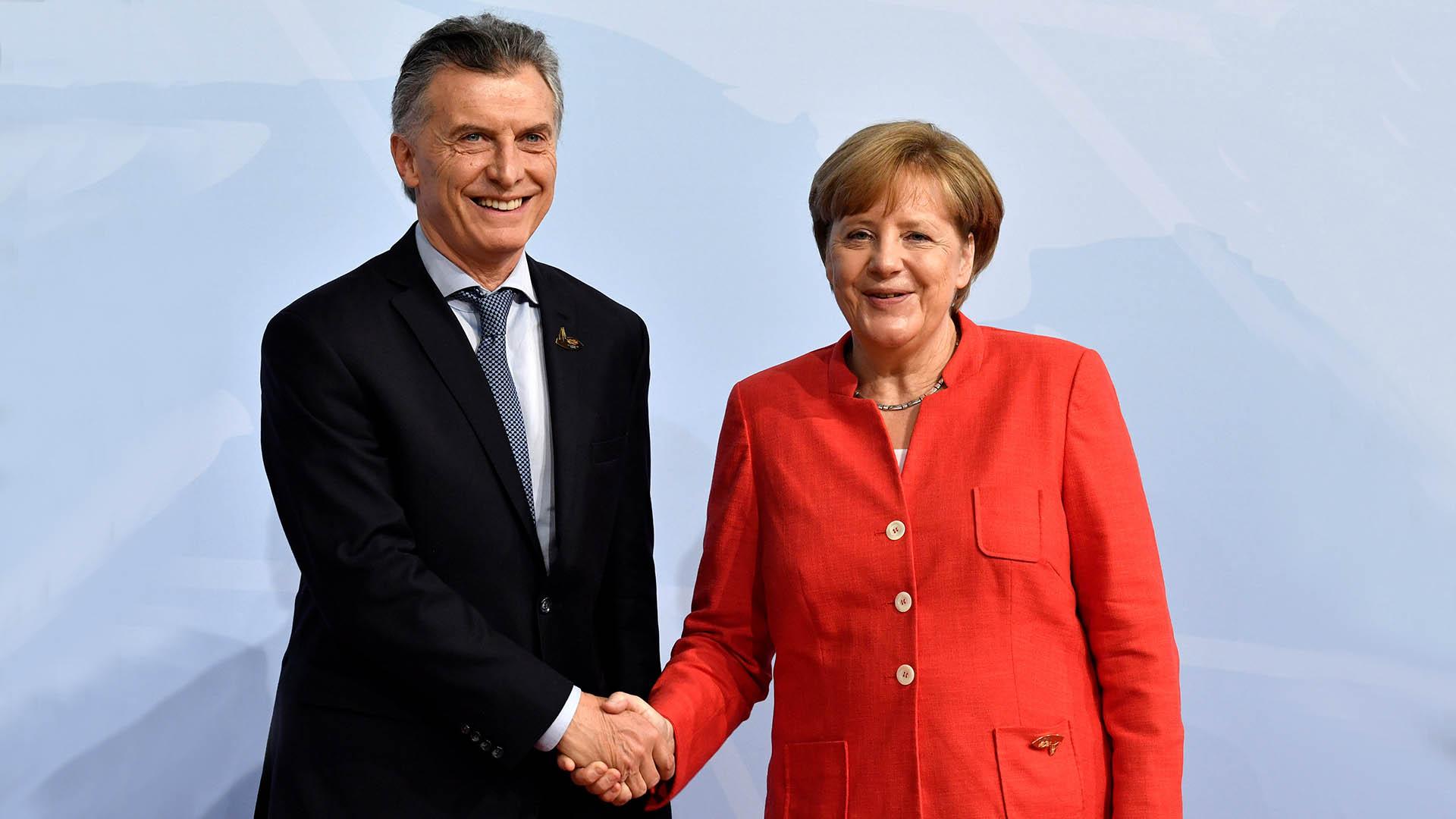 Mauricio Macri y Angela Merkel