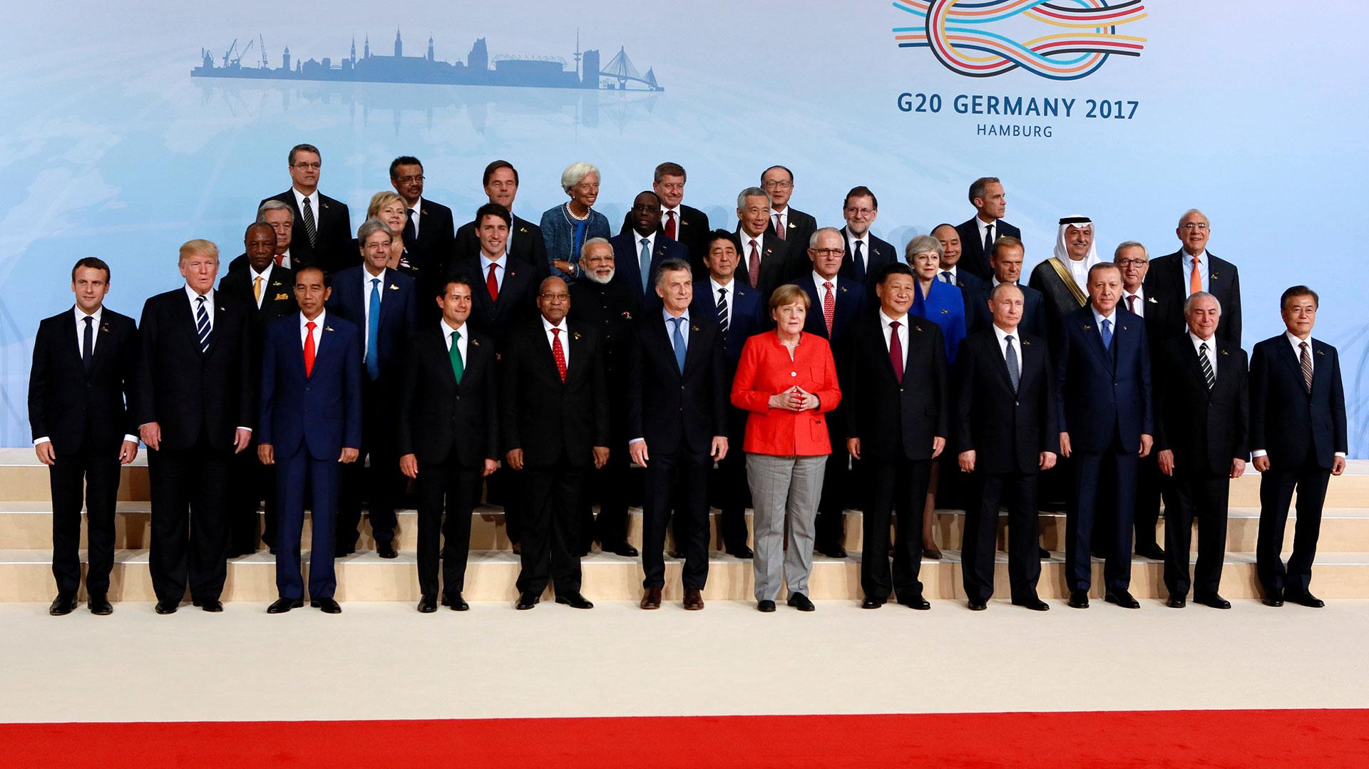 Los líderes mundiales en la cumbre del G-20