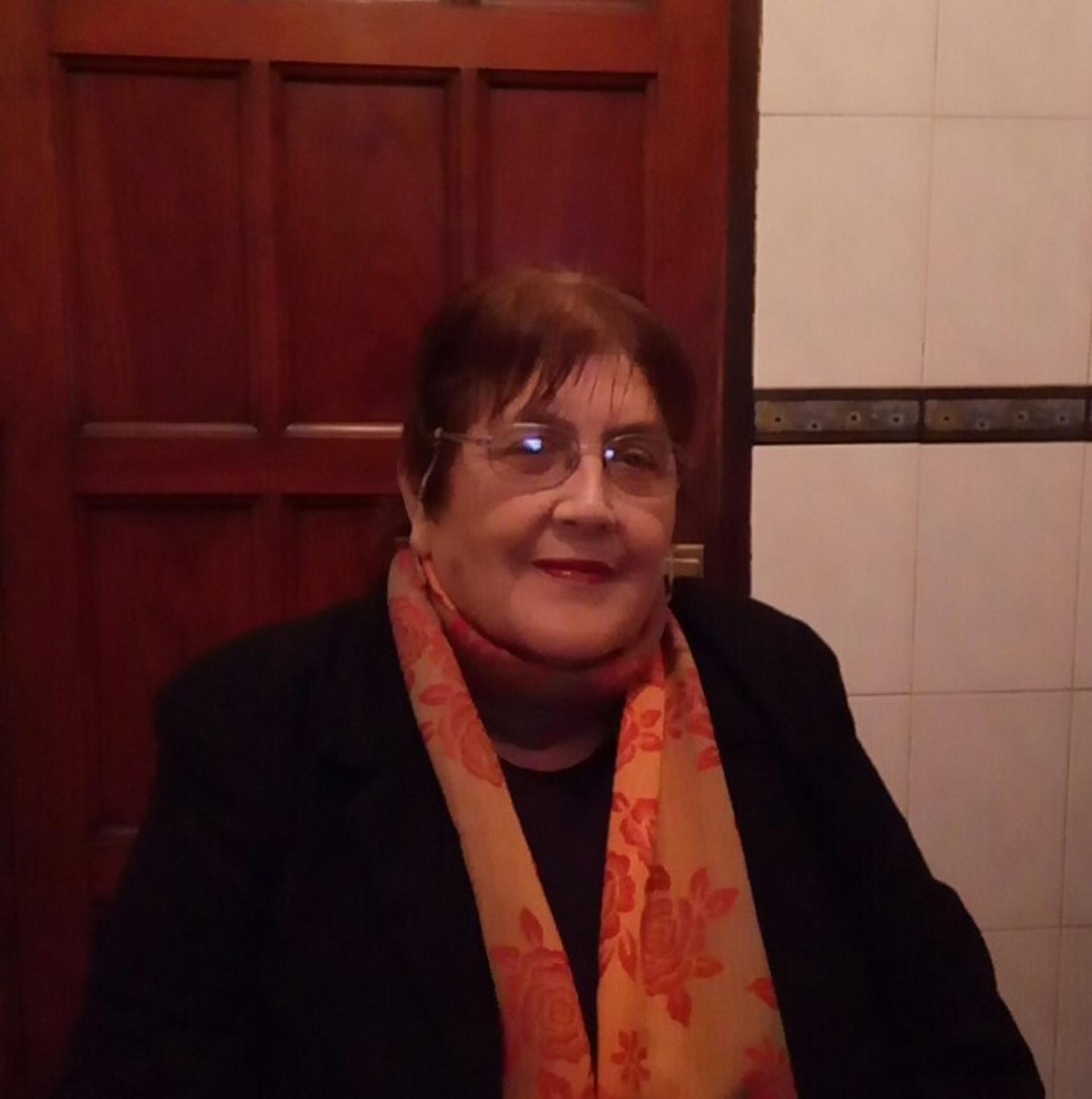 Foto actual de Olma Del Valle San Miguel, casada con Domingo Tadeo Santillán, sigue combatiendo por los derechos de los maestros rurales y los jubilados