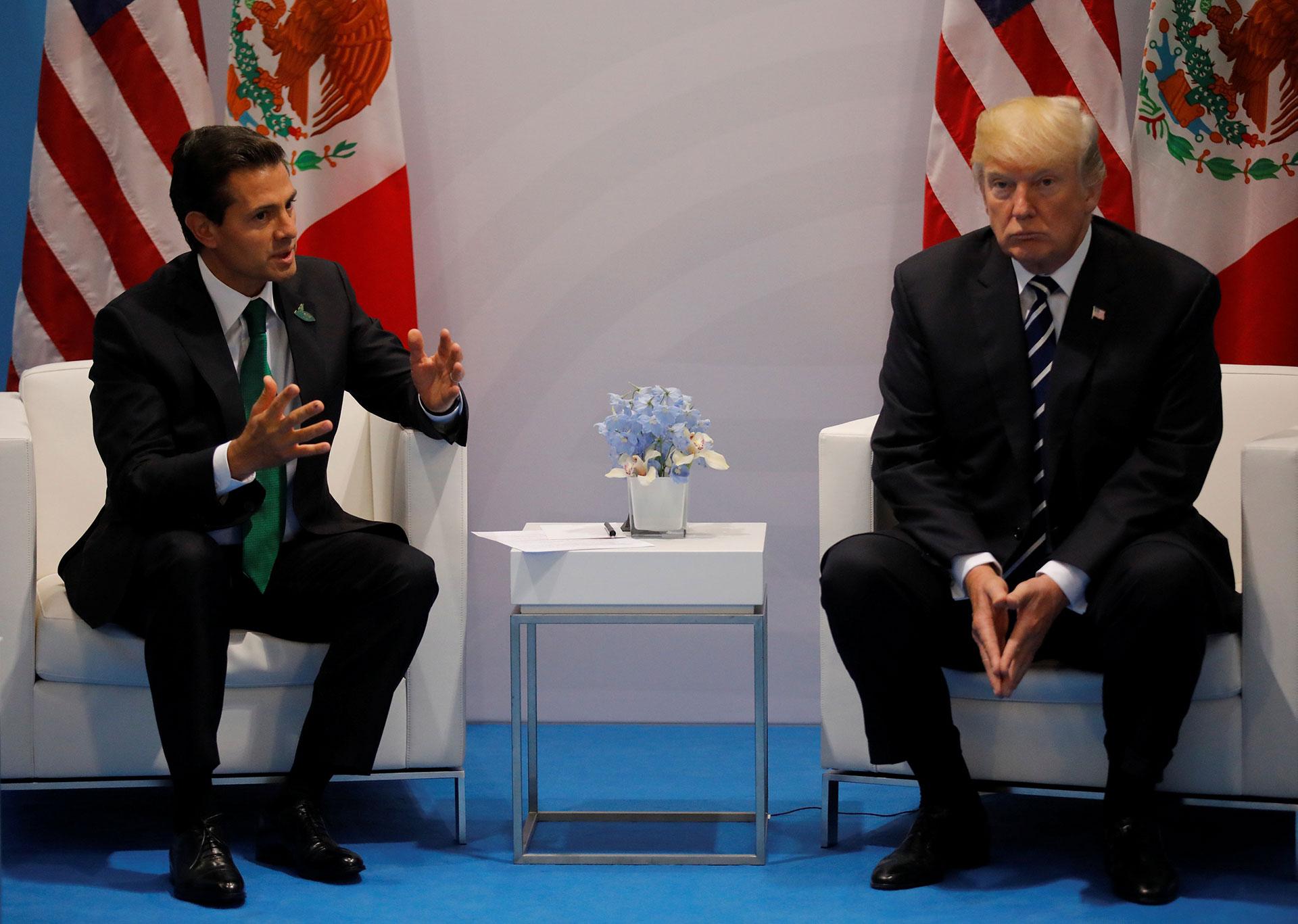 Trump también tuvo un encuentro con el mandatario mexicano, Enrique Peña Nieto (Reuters)