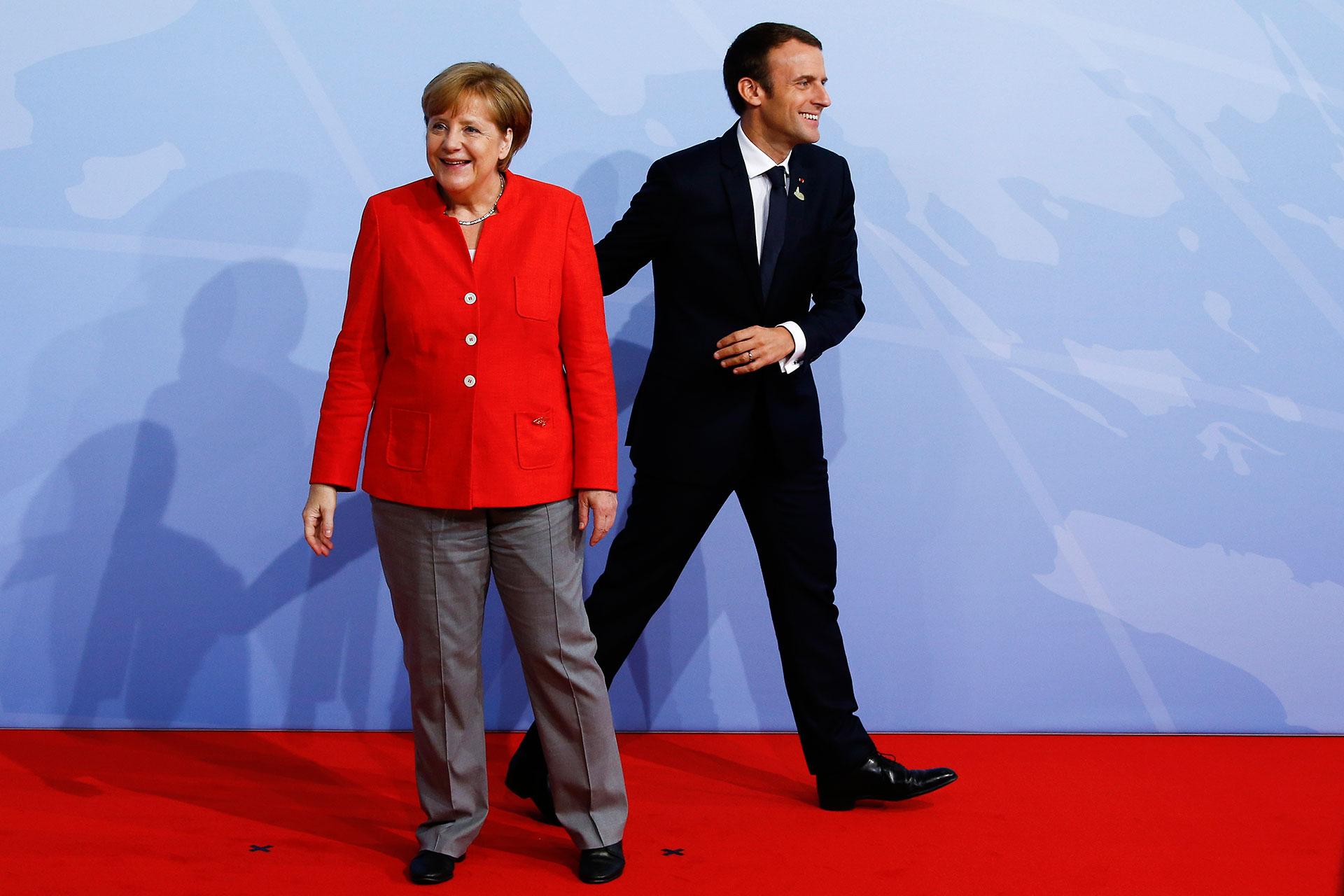 Angela Merkel y Emmanuel Macron, líderes del bloque europeo (Getty)