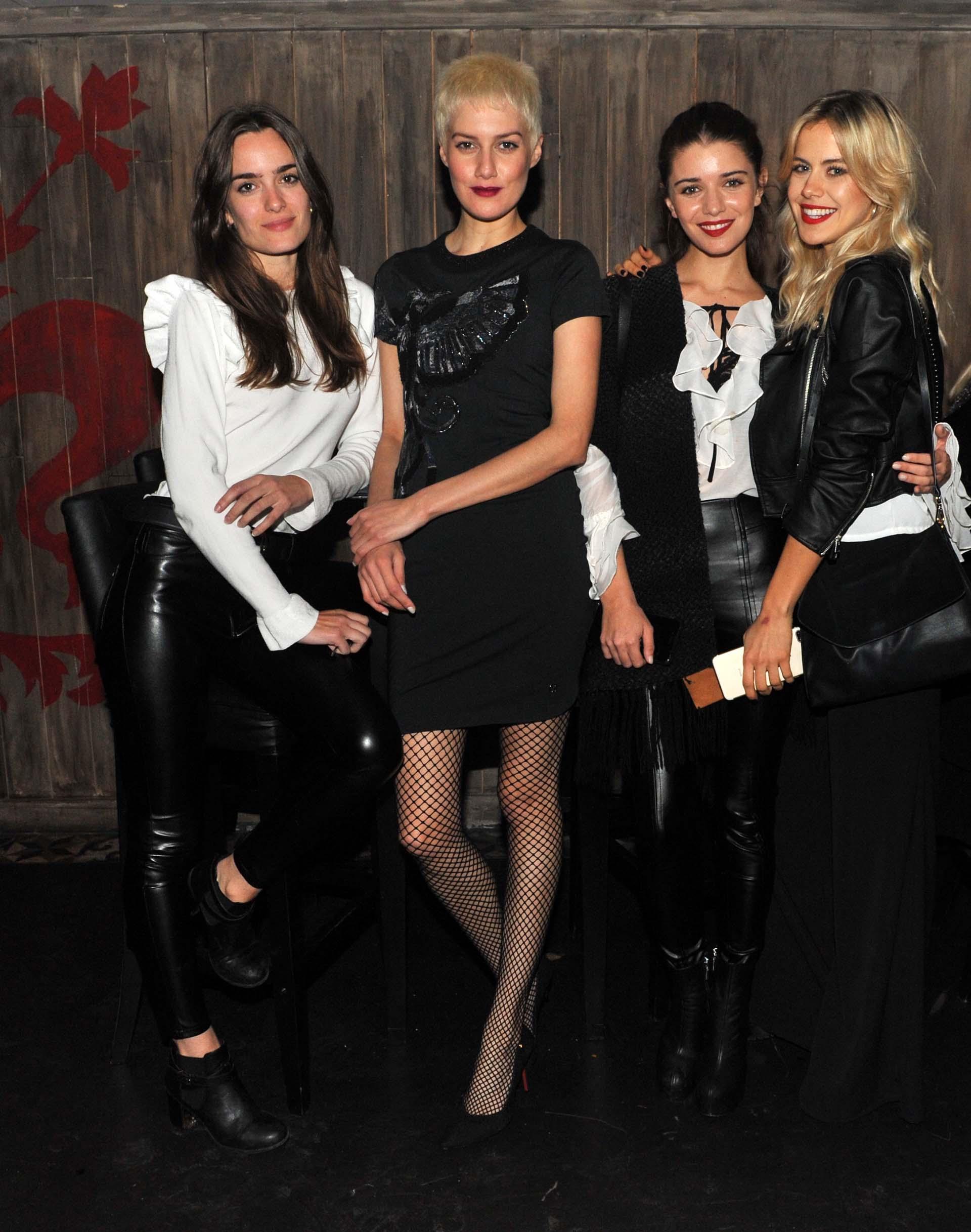 Las modelos Flor Alzieu, Laura Figueredo, Julia Teres y Antonella Macci