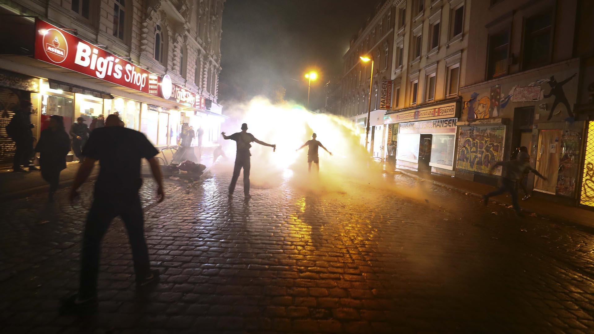 Incidentes durante la reunión del G20 en Hamburgo,Alemania (Reuters)