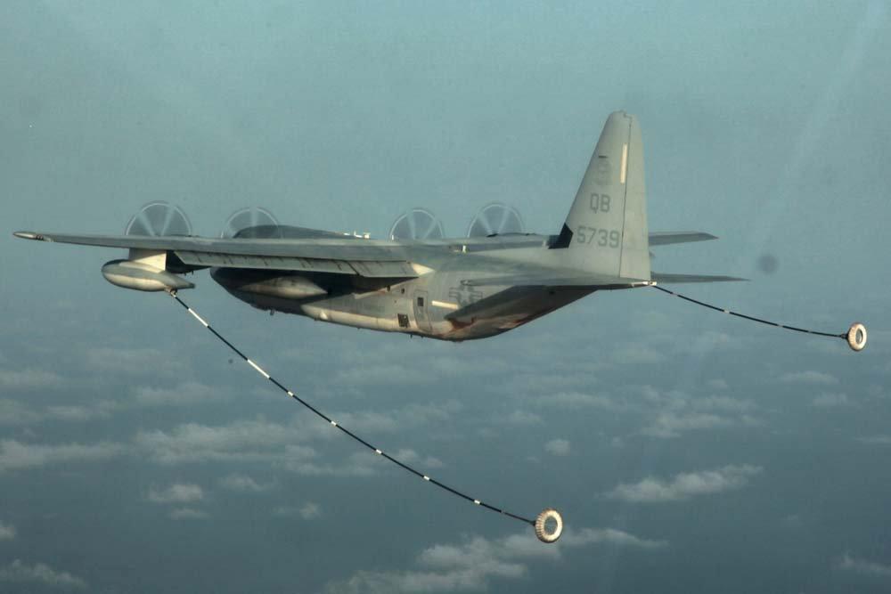 A KC-130, una nave similar a la accidentada (Reuters)