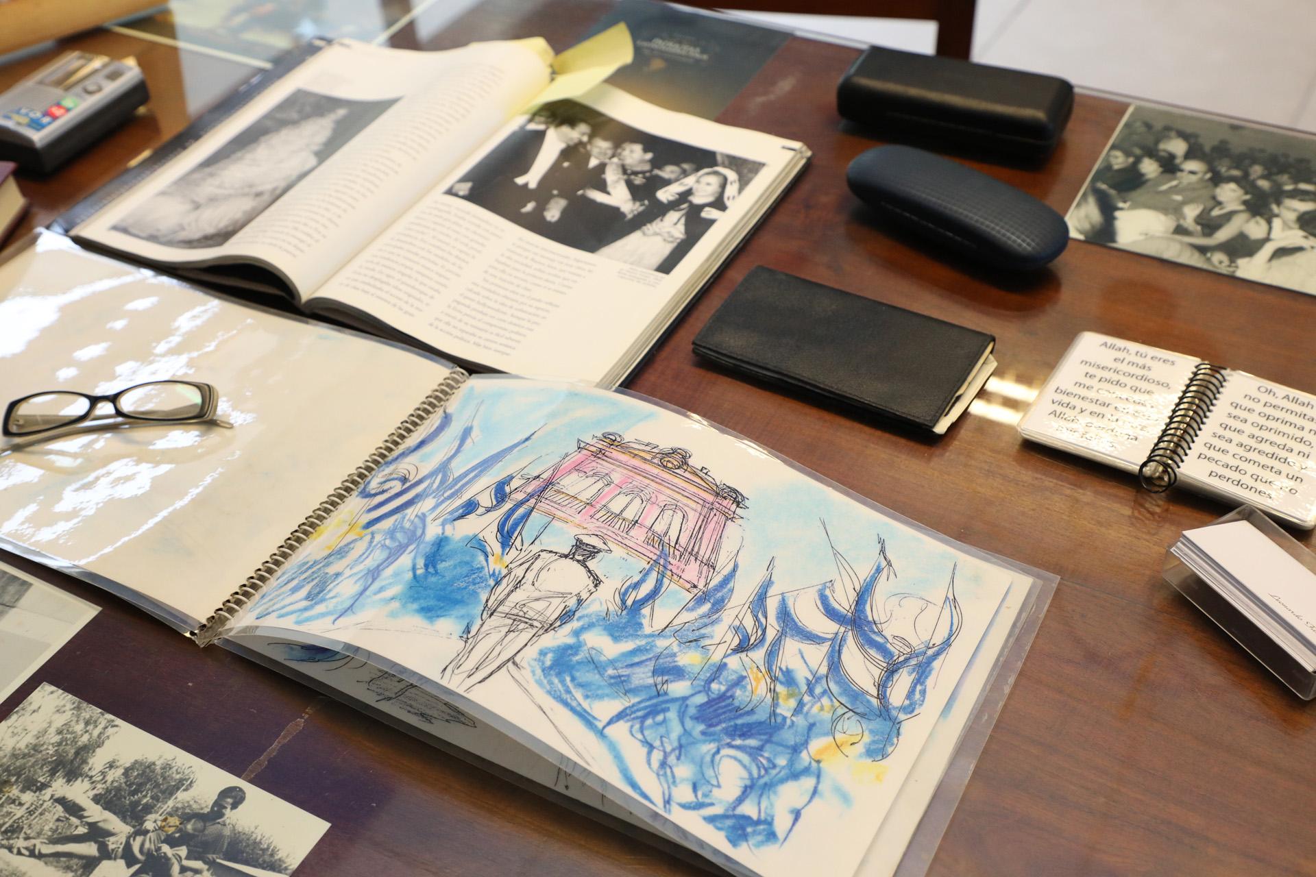 """Boceto de """"Sinfonía de un sentimiento"""", dibujado por el propio Favio (Prensa Municipalidad de Avellaneda)"""