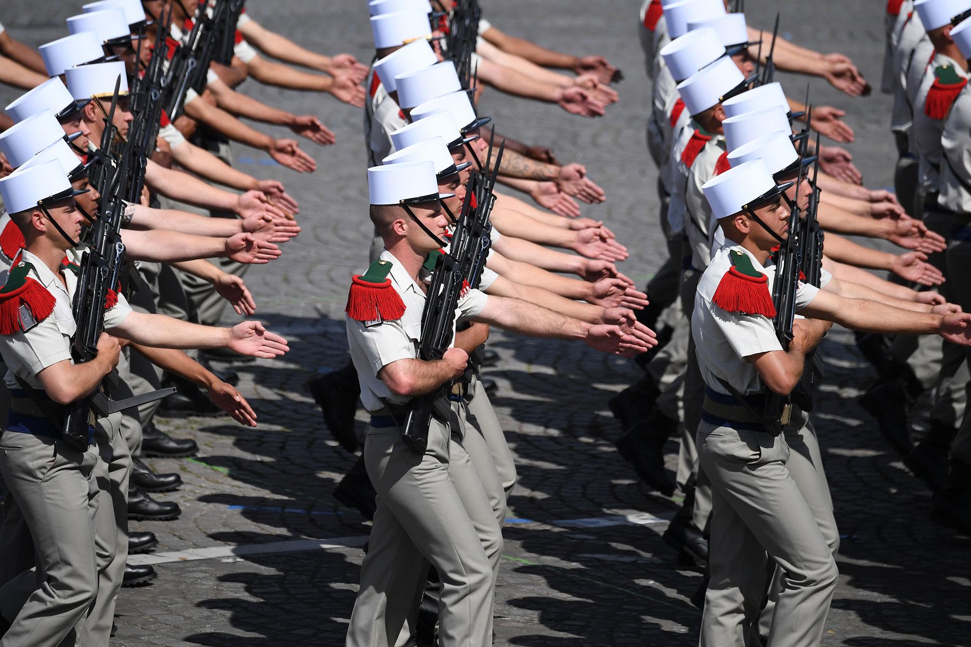 Soldados franceses del Cuarto Regimiento Extranjero de la Legión Francesa Extranjera (AFP)