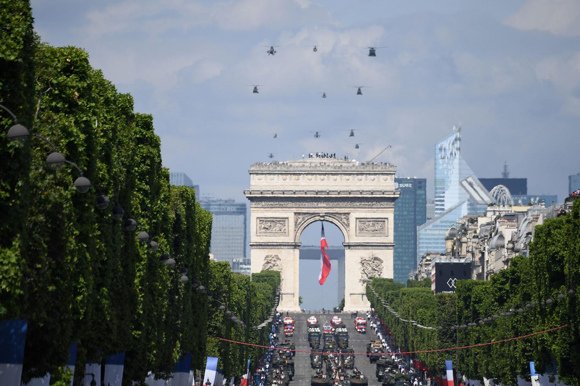 Vista general del desfile militar (AFP)