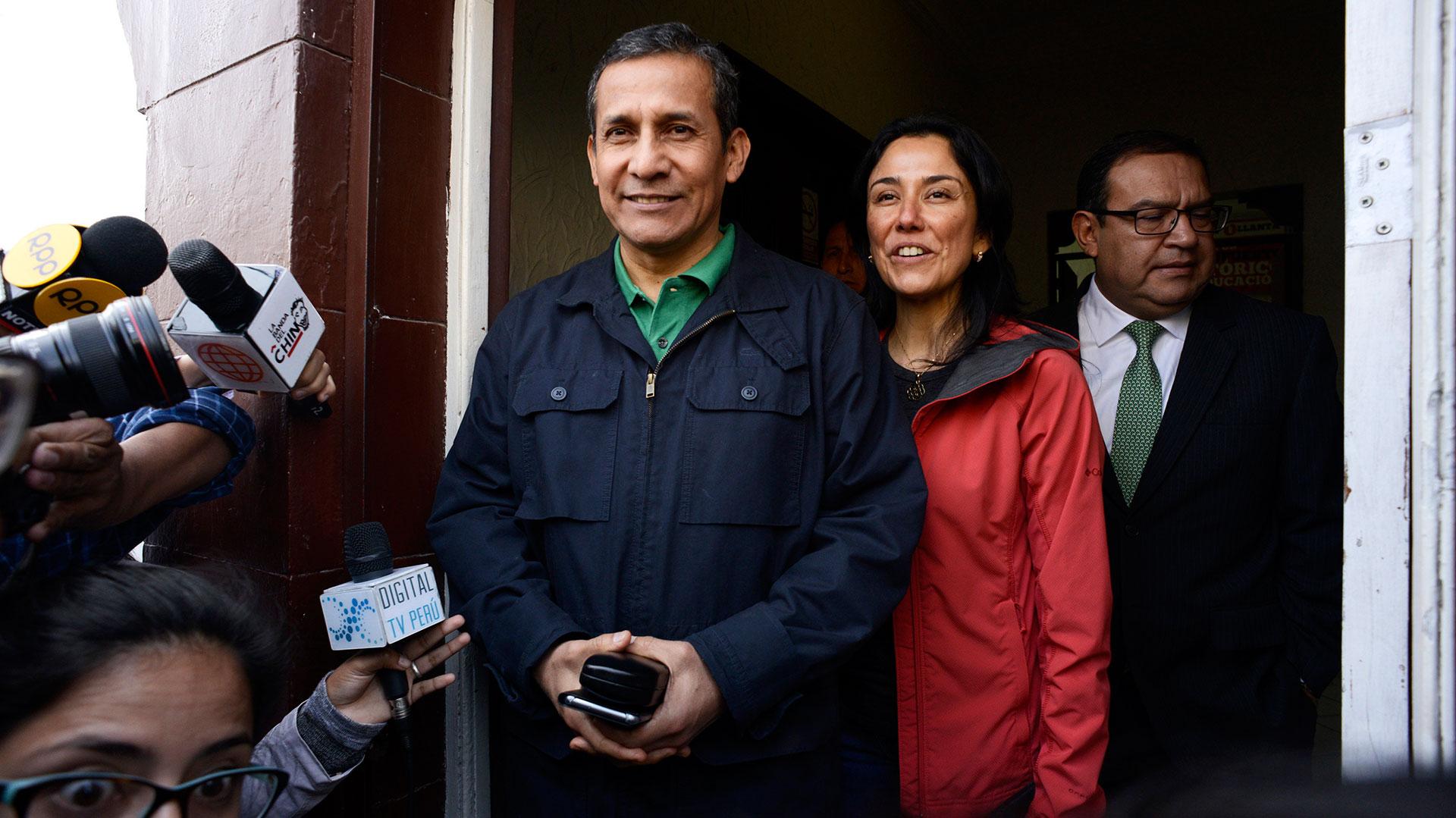 Humala y Nadine Heredia (EFE)