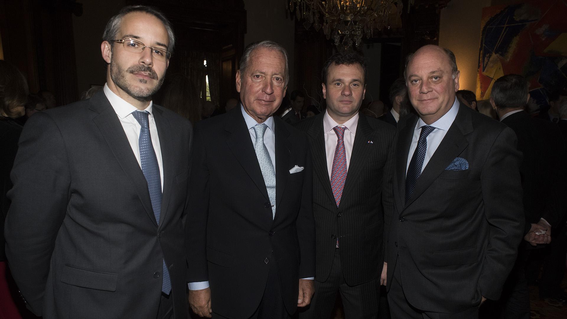 Rodrigo Pérez Graziano, director de PSA Citröen Peugeot, junto a Daniel Funes de Rioja, Juan Pablo Maglier y Martín Cabrales