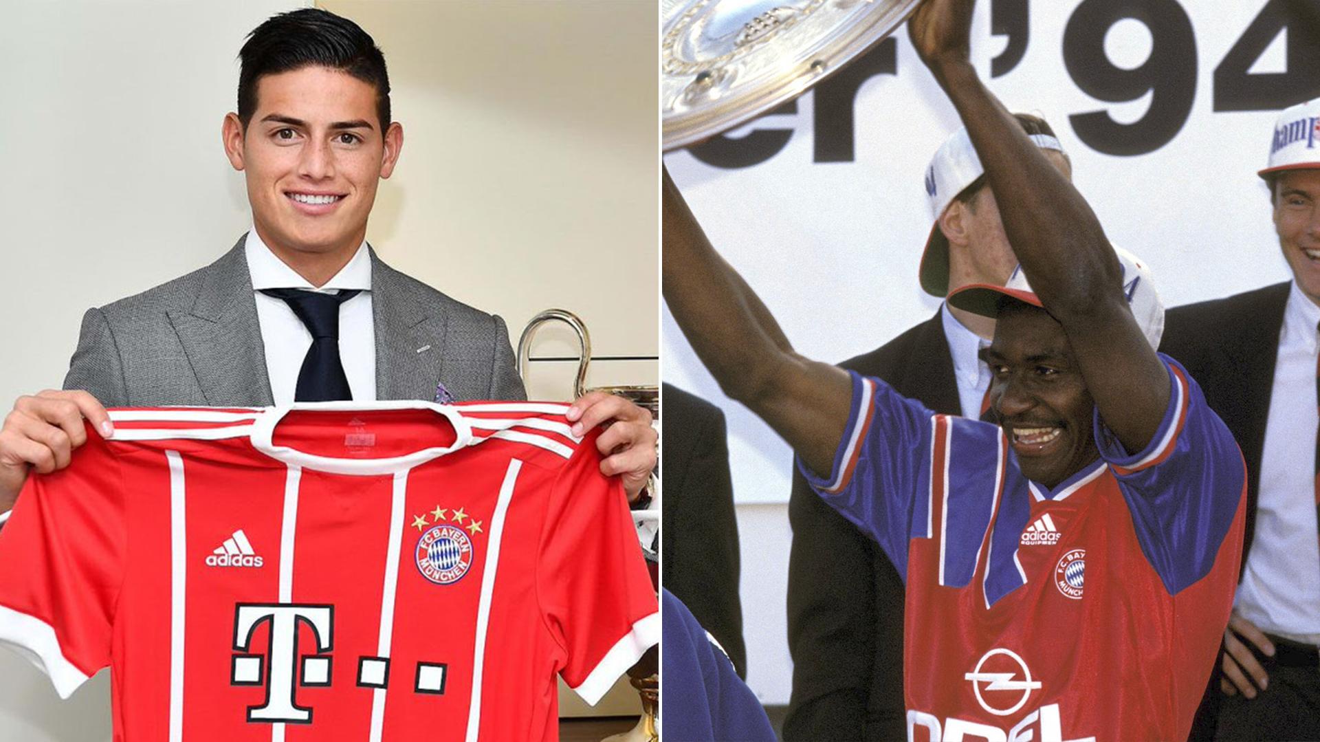 James Rodríguez es nuevo jugador del Bayern Munch, club en el que su compatriota Adolfo Valencia fue campeón
