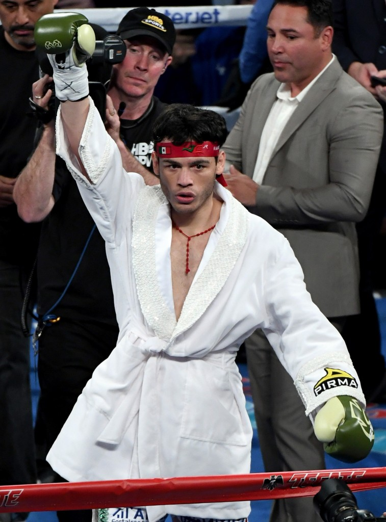 LAS VEGAS, NV - MAY 06: Julio Cesar Chavez Jr. is introduced before his catchweight bout against Canelo Alvarez at T-Mobile Arena on May 6, 2017 in Las Vegas, Nevada. Alvarez won by unanimous decsion. (Photo by Ethan Miller/Getty Images)