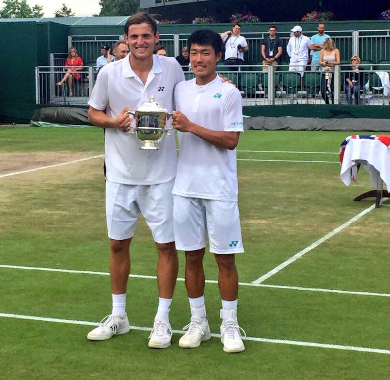 Axel Geller tuvo revancha: ganó el dobles junior en Wimbledon Junto al taiwanés Yu Hsiou Hsu ganó el certamen tras caer esta mañana en la final del singles